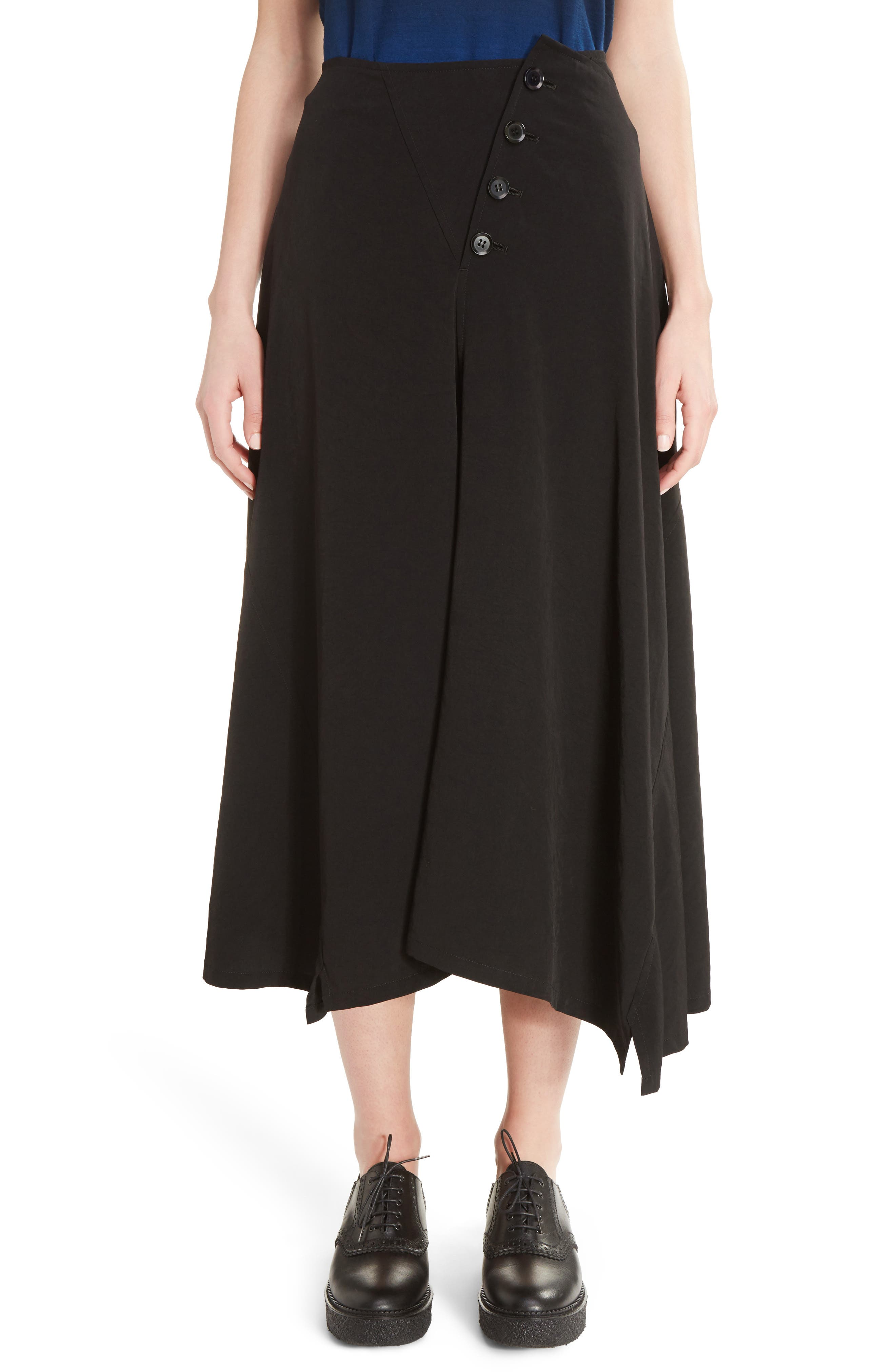 Y's by Yohji Yamamoto O-Flared Midi Skirt