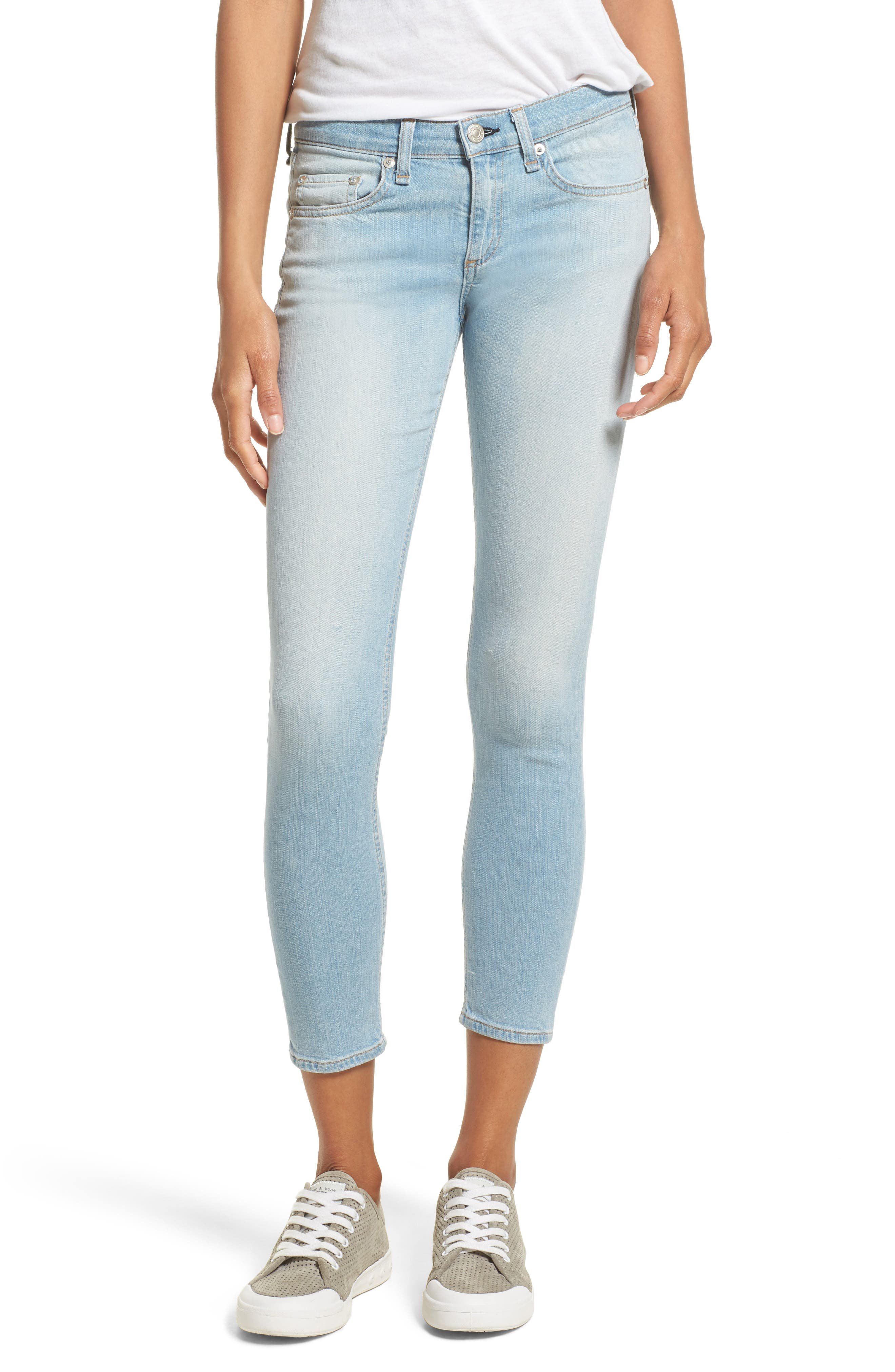 Alternate Image 1 Selected - rag & bone/JEAN Capri Skinny Jeans