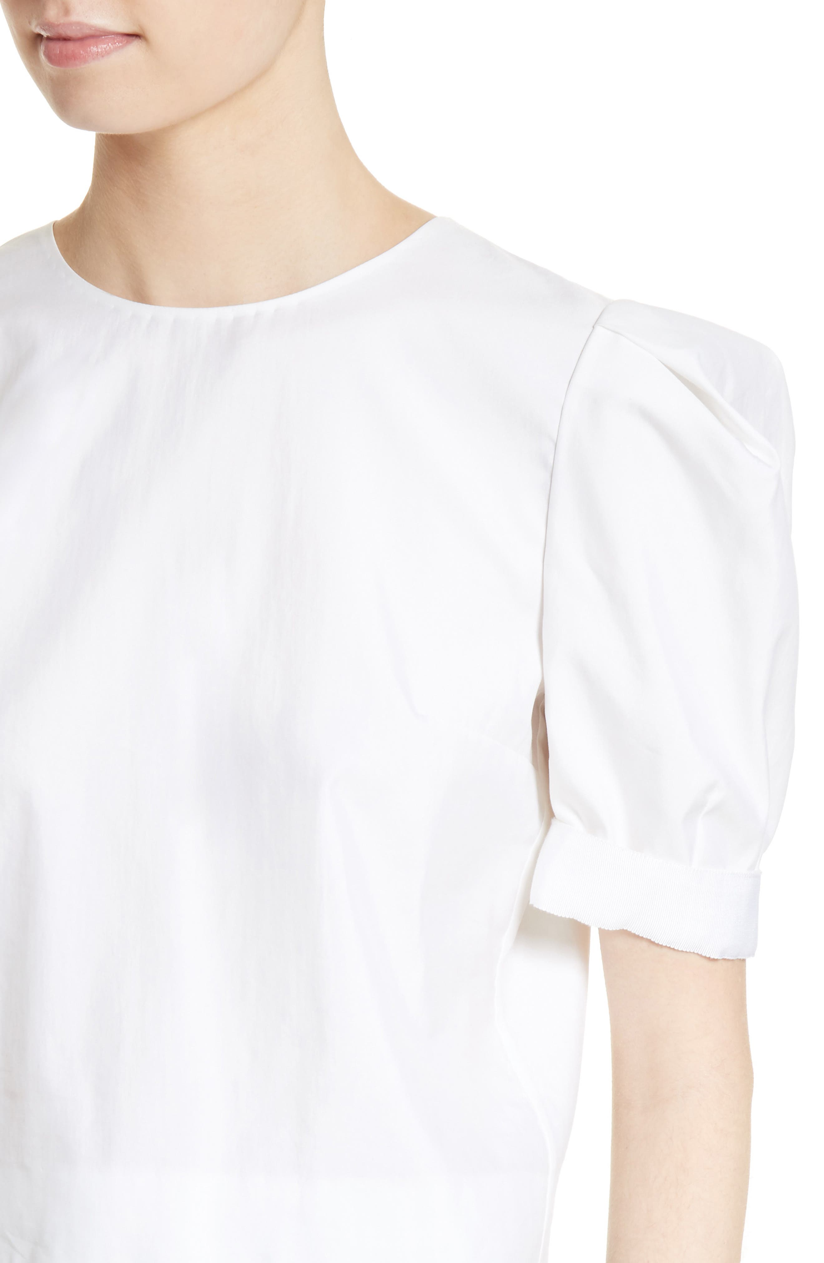 Alternate Image 6  - Adam Lippes Puff Sleeve Cotton Blouse