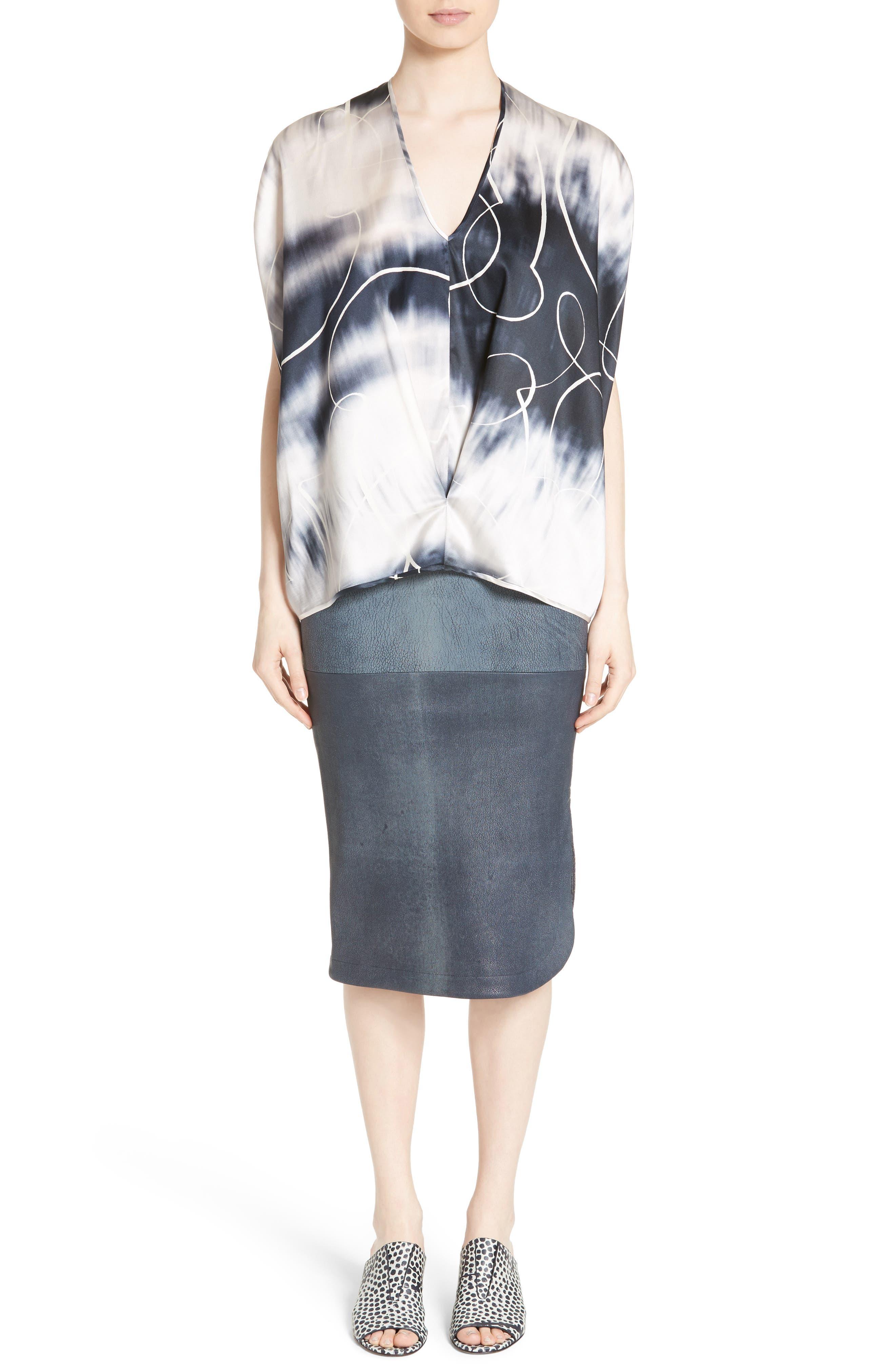 Alternate Image 9  - Zero + Maria Cornejo Rai Leather Curved Skirt