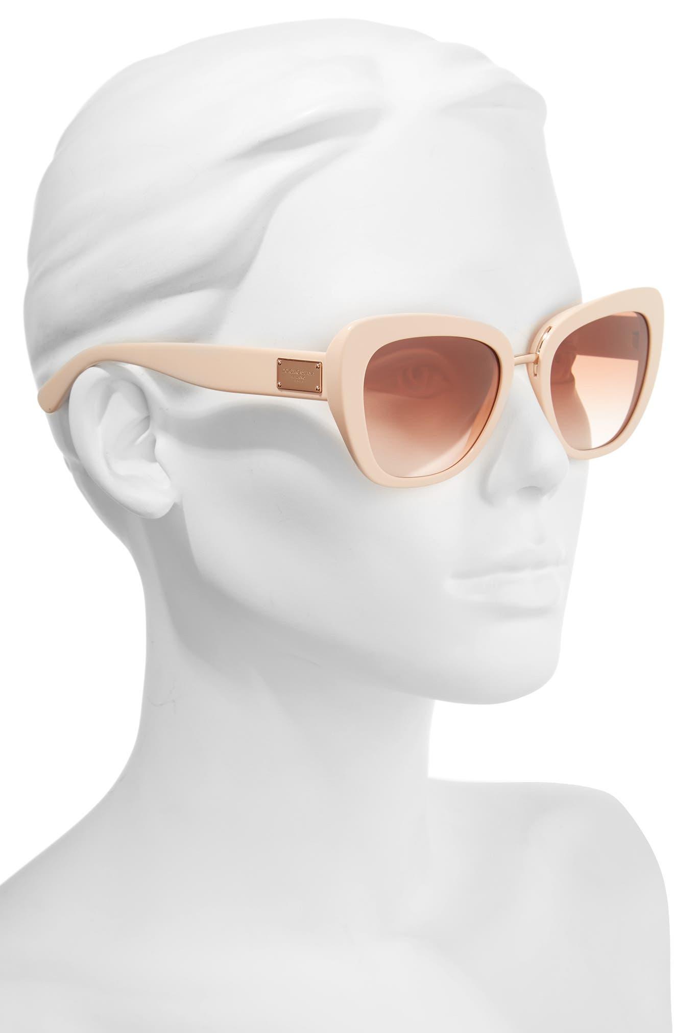 Alternate Image 2  - Dolce&Gabbana 53mm Gradient Cat Eye Sunglasses