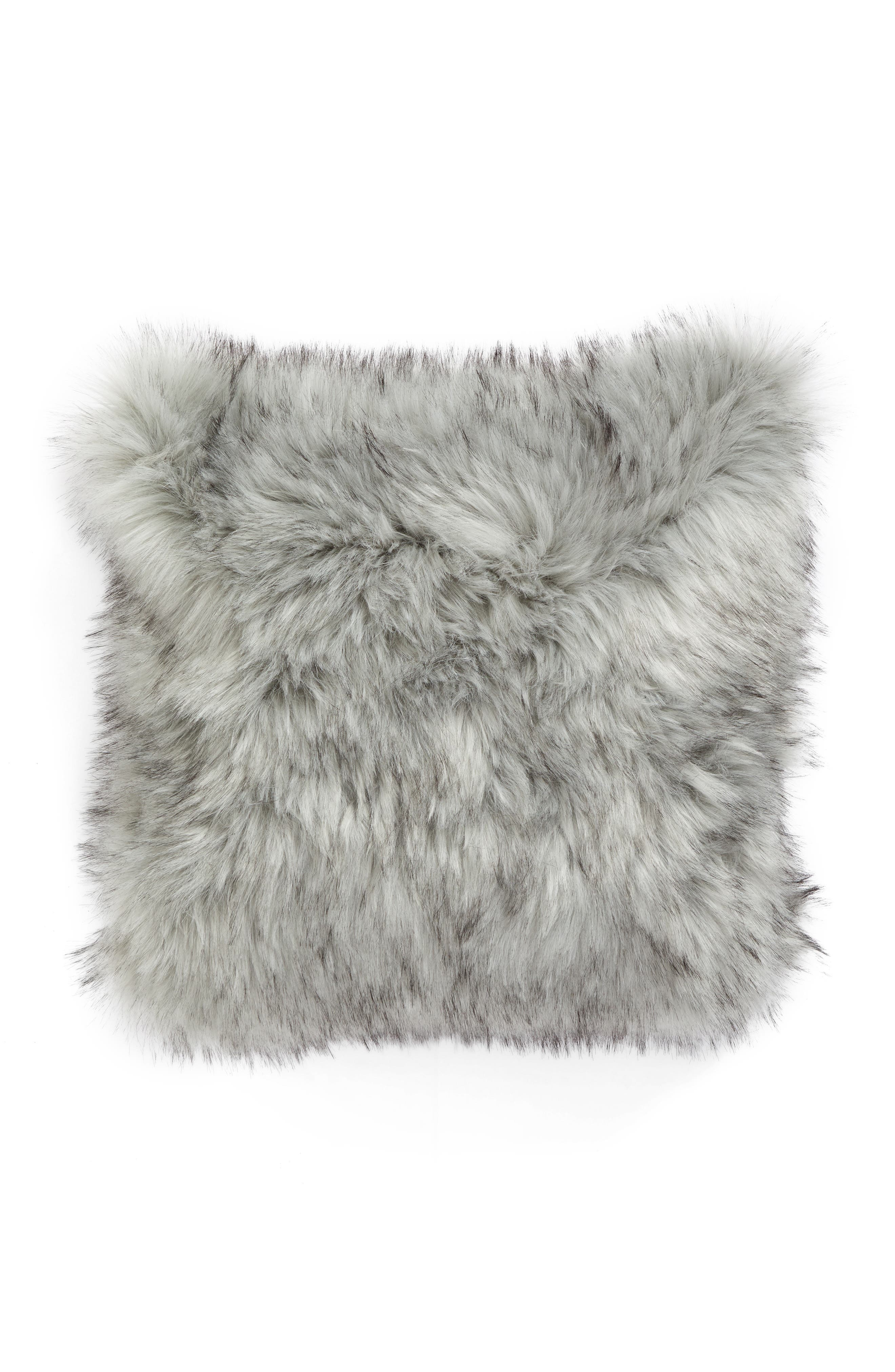 Alternate Image 2  - Nordstrom at Home Faux Fur Accent Pillow