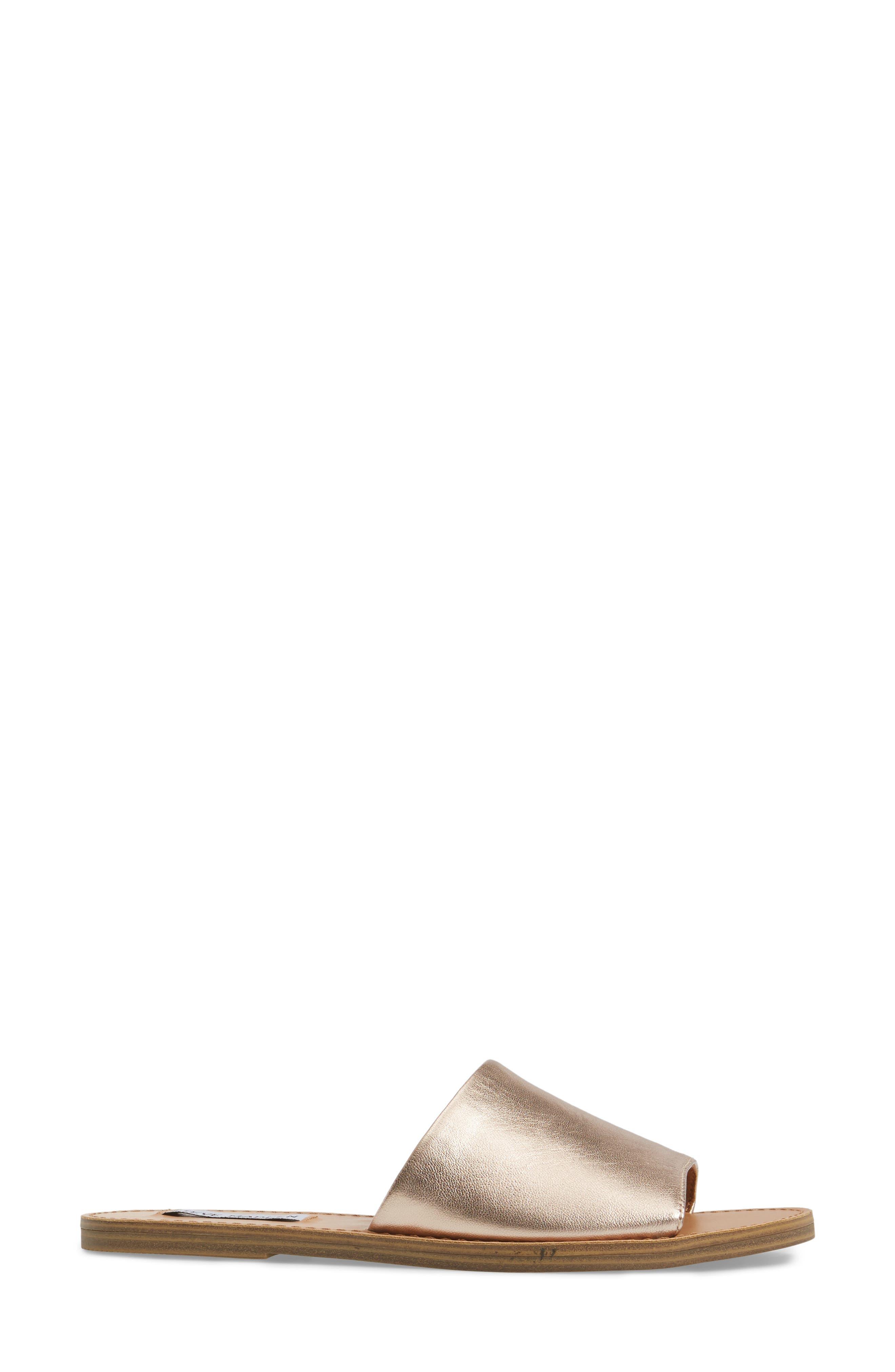 Grace Slide Sandal,                             Alternate thumbnail 3, color,                             Rosegold
