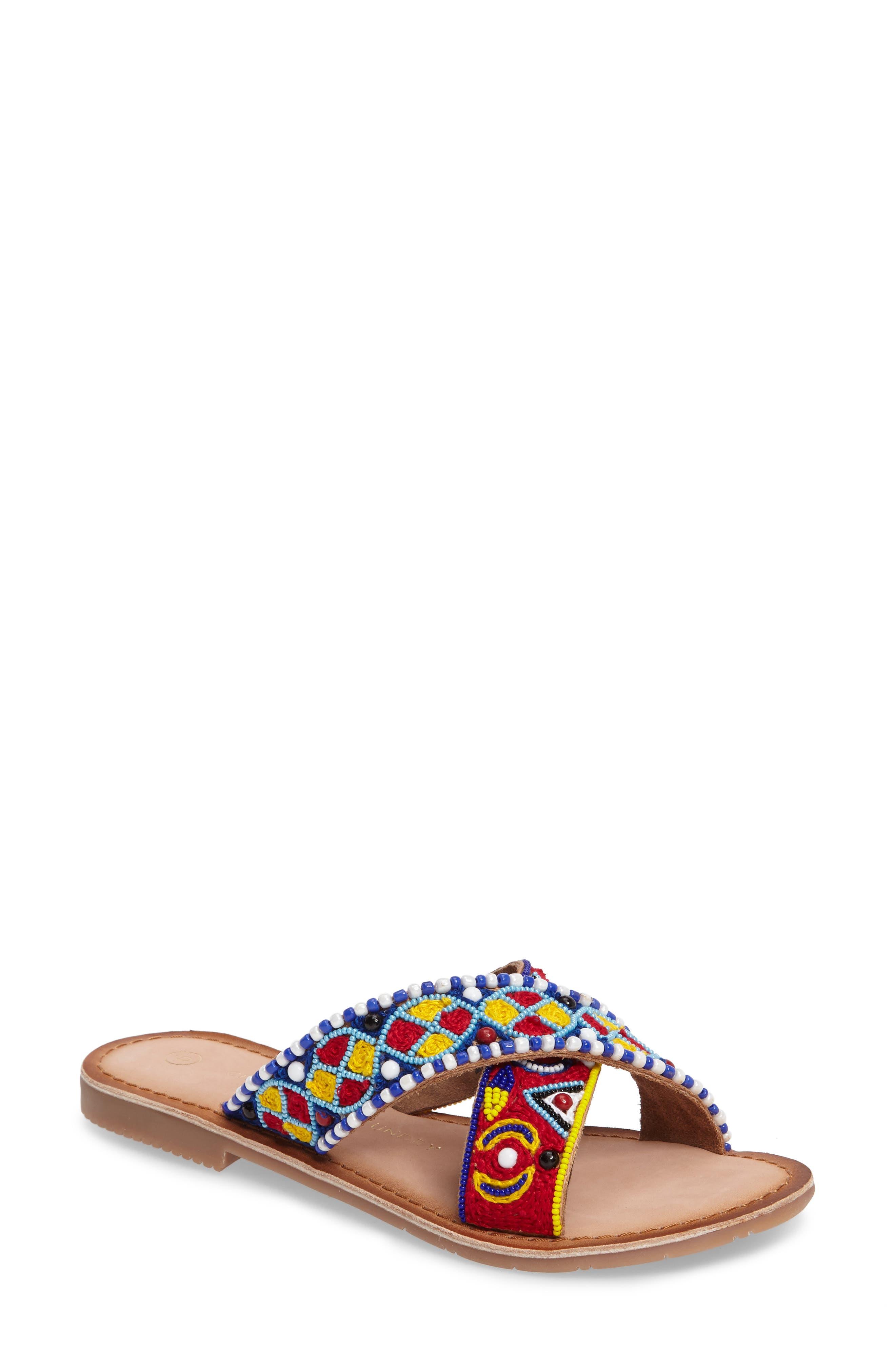Purfect Slide Sandal,                         Main,                         color, Cognac