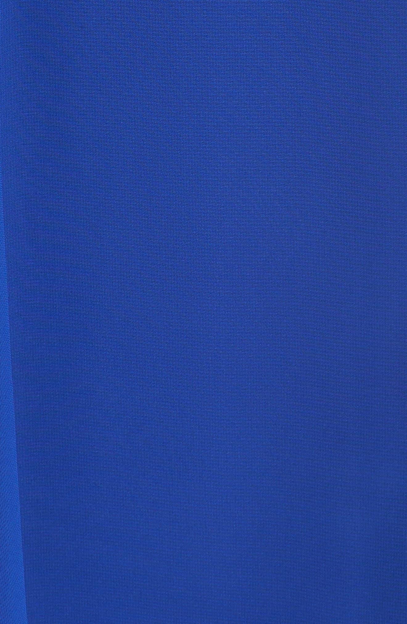 Embellished Trapeze Dress,                             Alternate thumbnail 5, color,                             Cobalt
