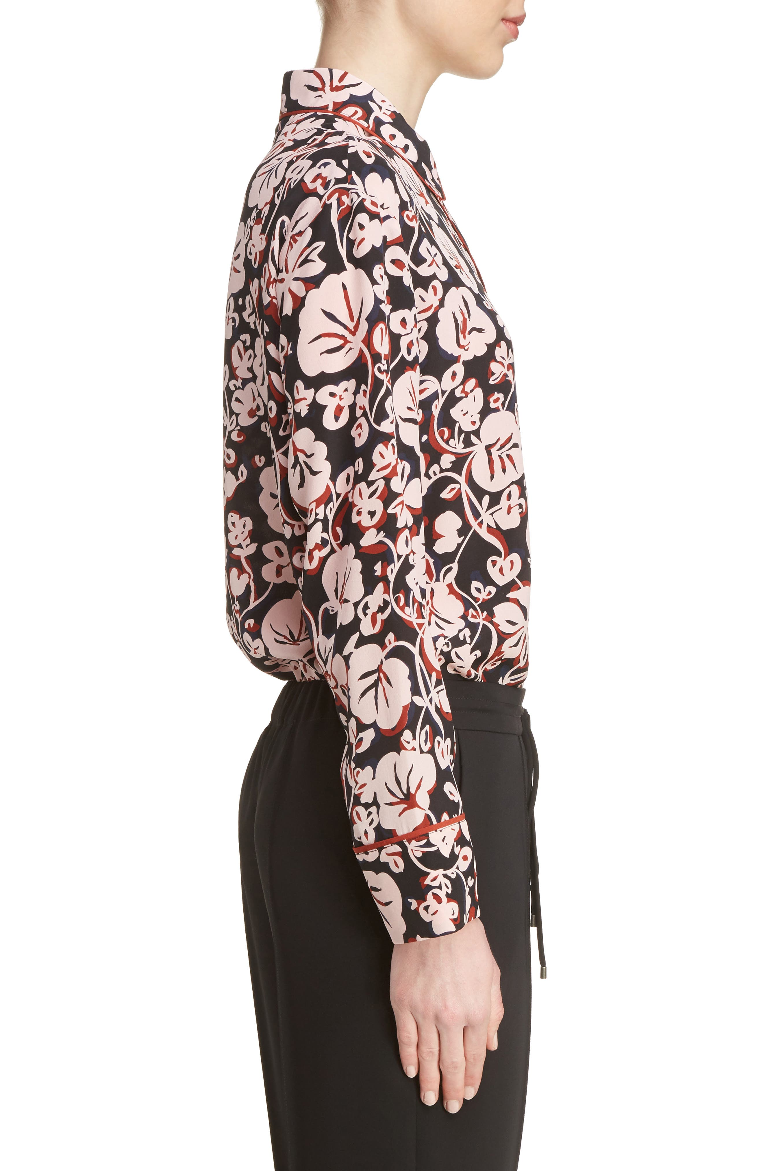 Alternate Image 4  - KENZO Floral Print Silk Shirt