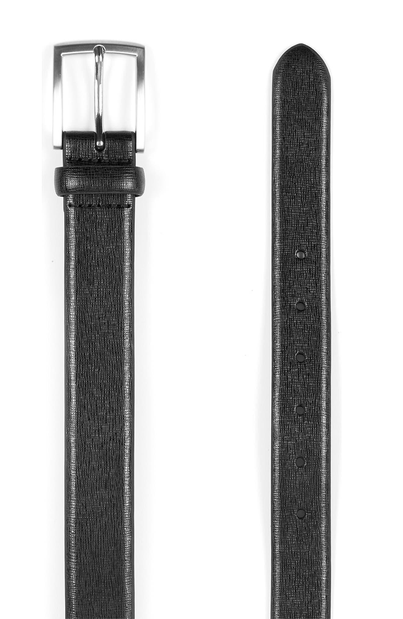 Alternate Image 3  - Topman Glazed Leather Belt