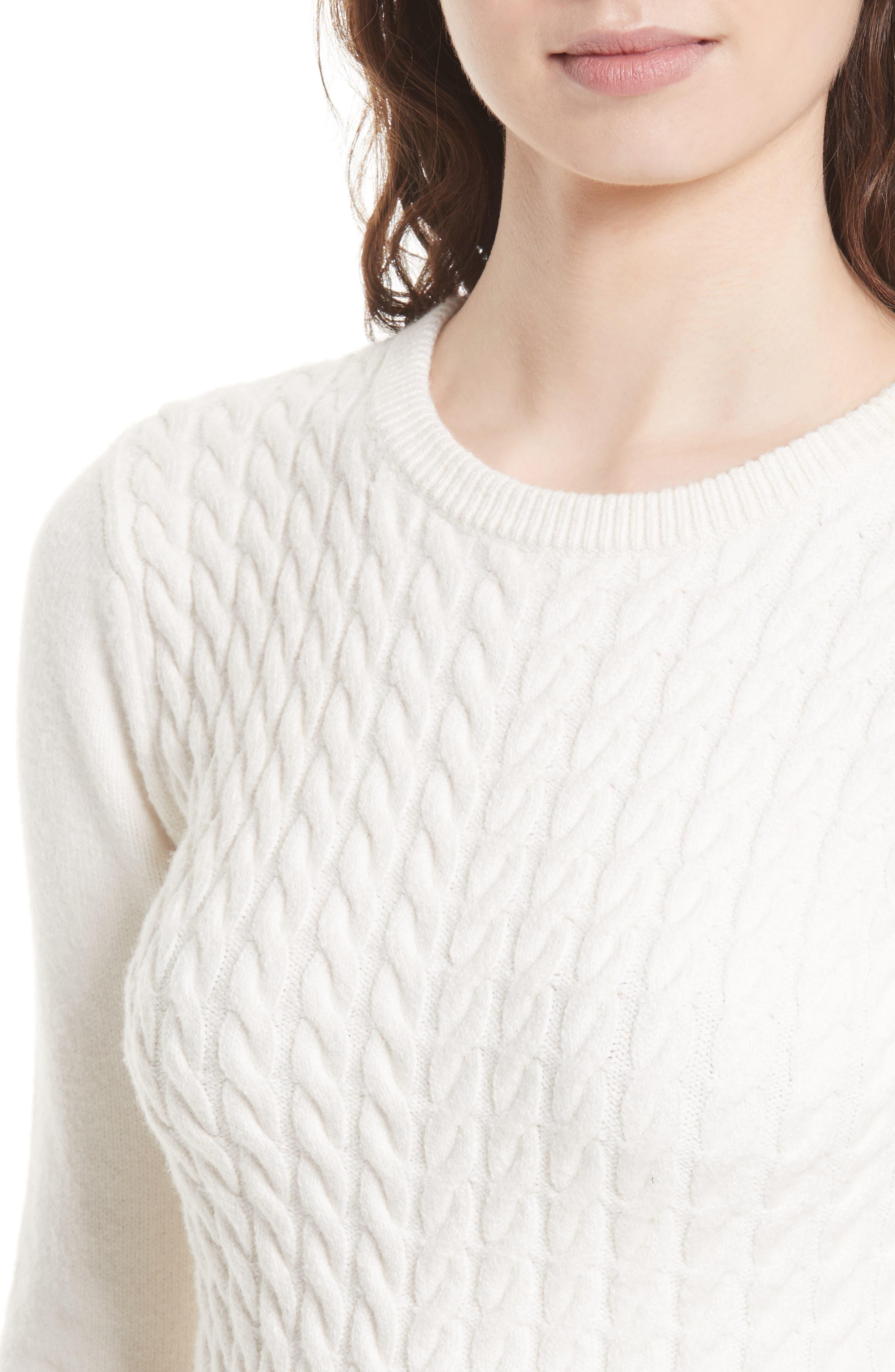 Alternate Image 4  - Ted Baker London Mereda Cable Knit Peplum Sweater
