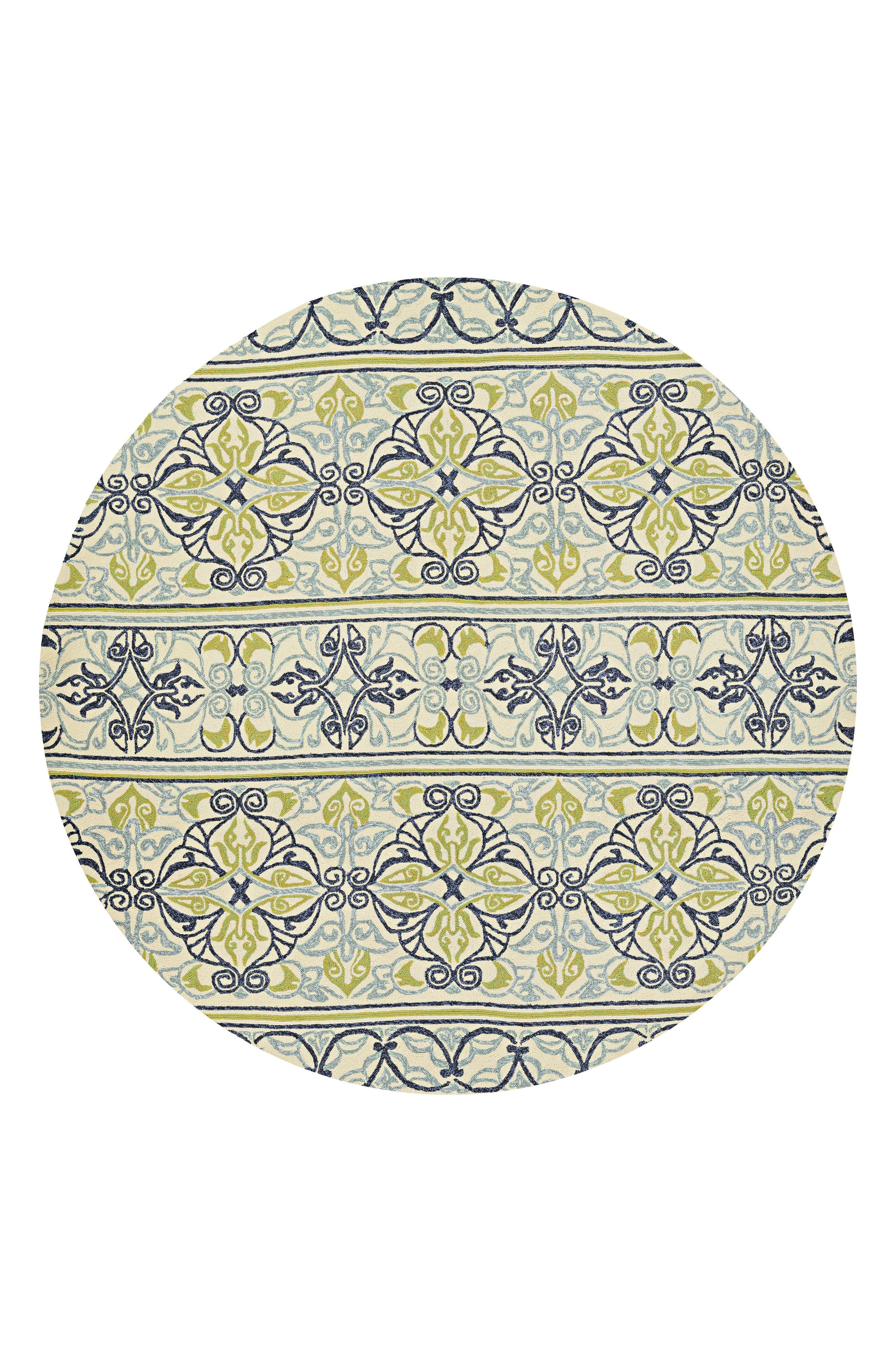Pegasus Indoor/Outdoor Rug,                             Main thumbnail 1, color,                             Ivory/ Navy/ Lime