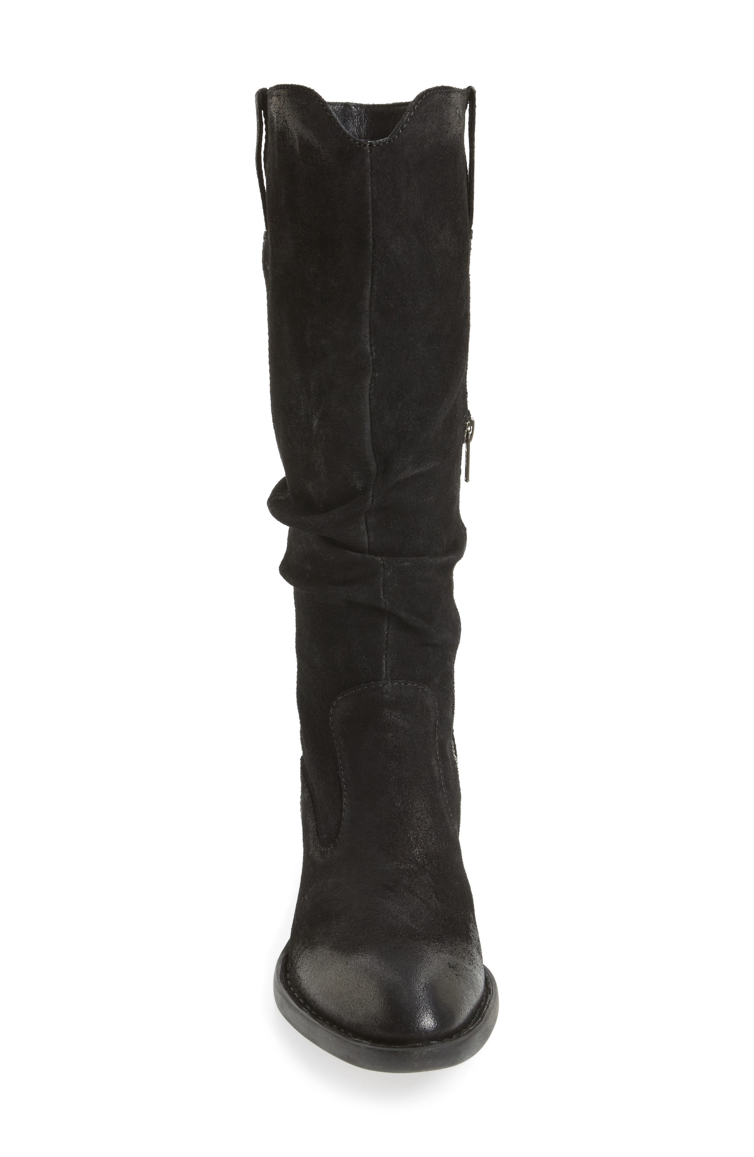 Barren Boot,                             Alternate thumbnail 4, color,                             Black Distressed Leather