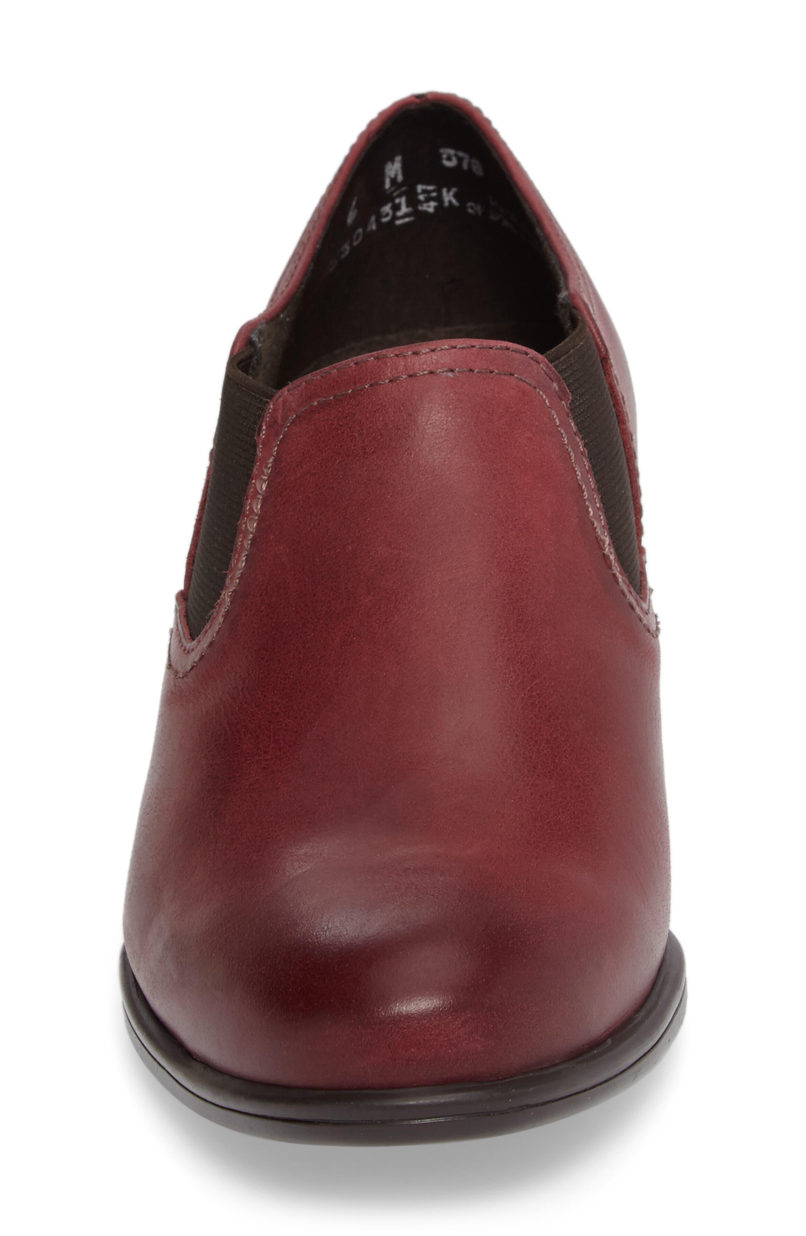 Frisco Bootie,                             Alternate thumbnail 4, color,                             Wine Leather