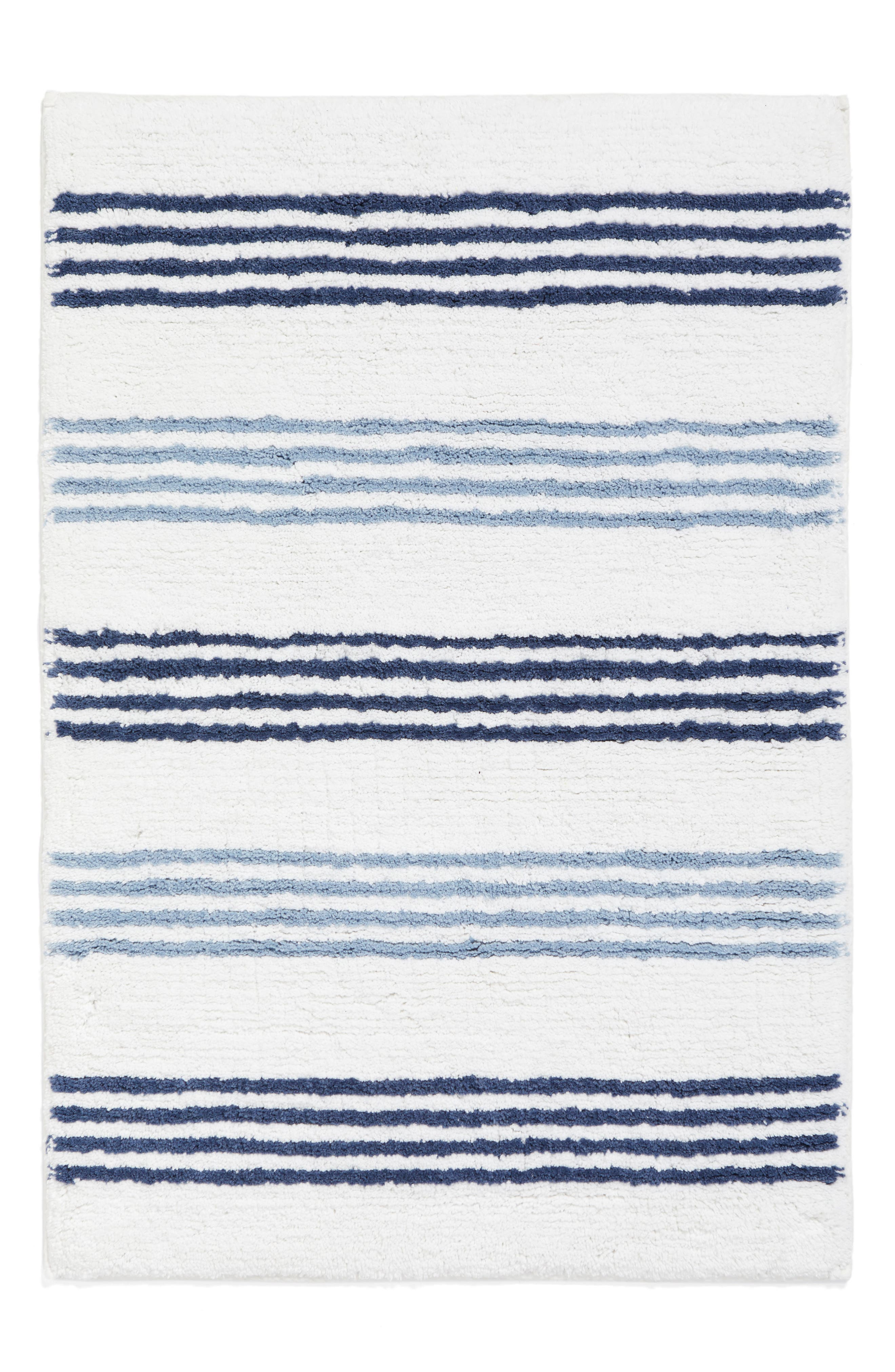 Nordstrom at Home Striped Hand Tufted Bath Rug