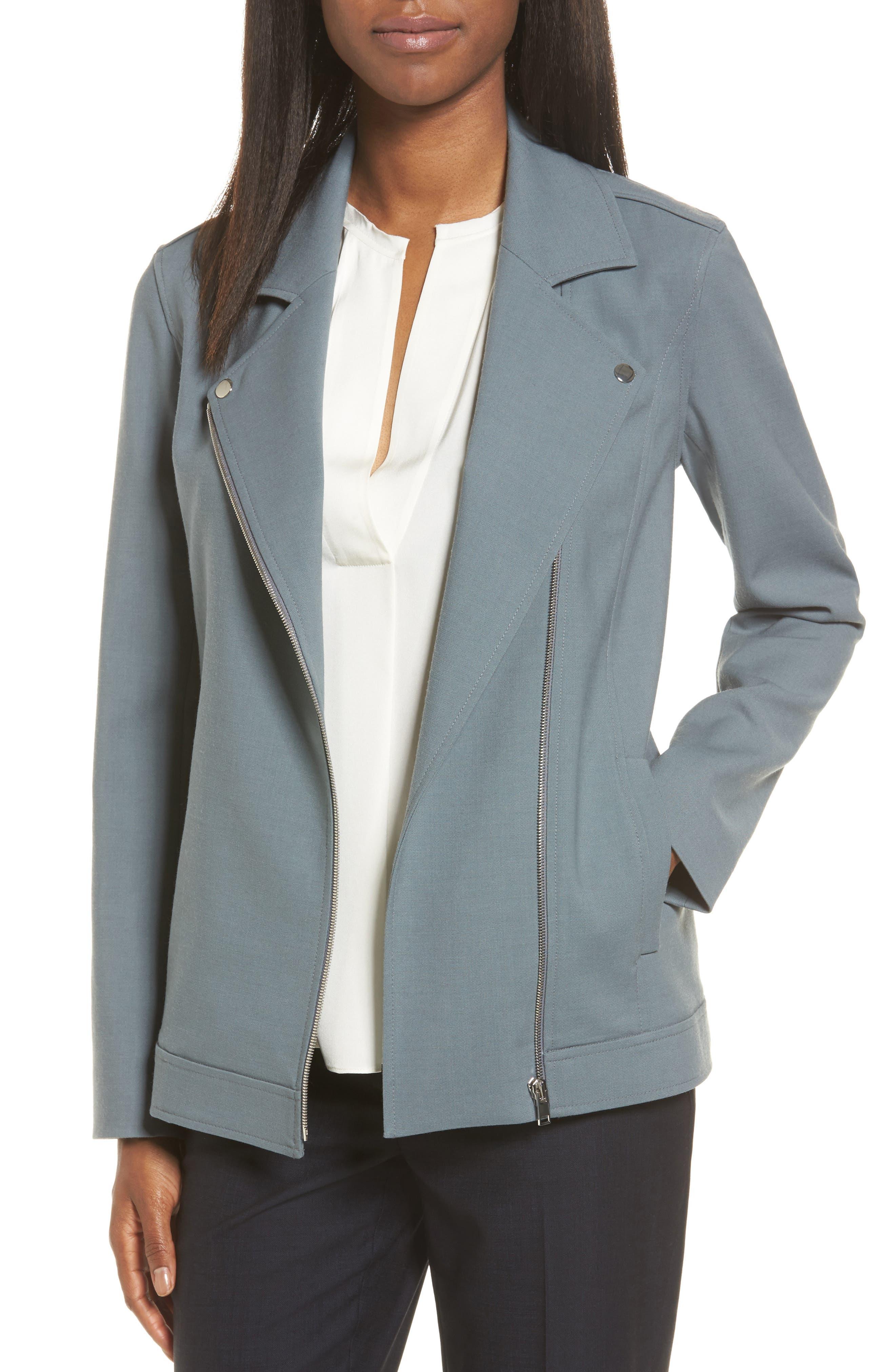 CLASSIQUES ENTIER<SUP>®</SUP> Wool Blend Moto Jacket