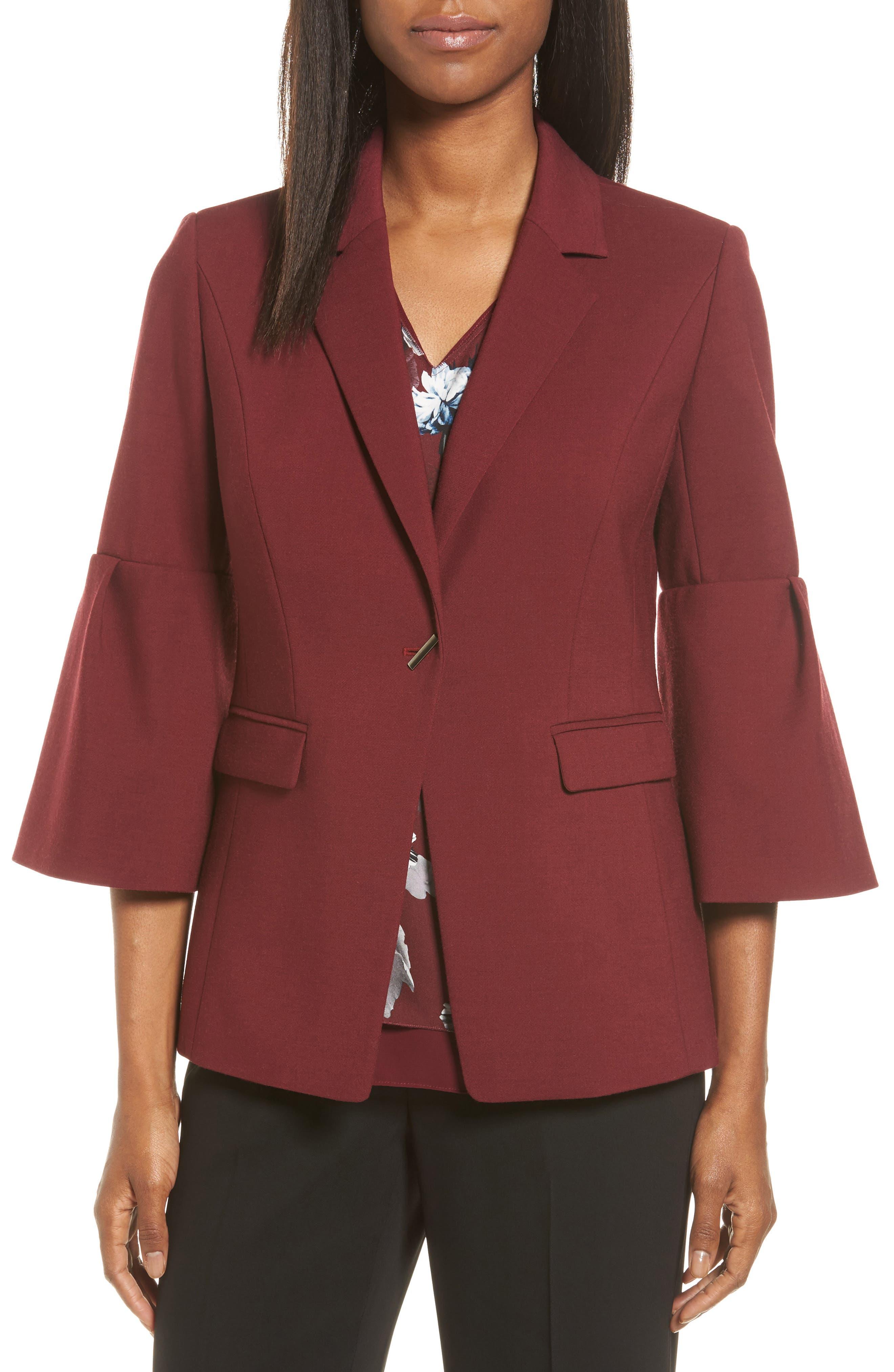 Classiques Entier® Bell Sleeve Wool Blend Jacket