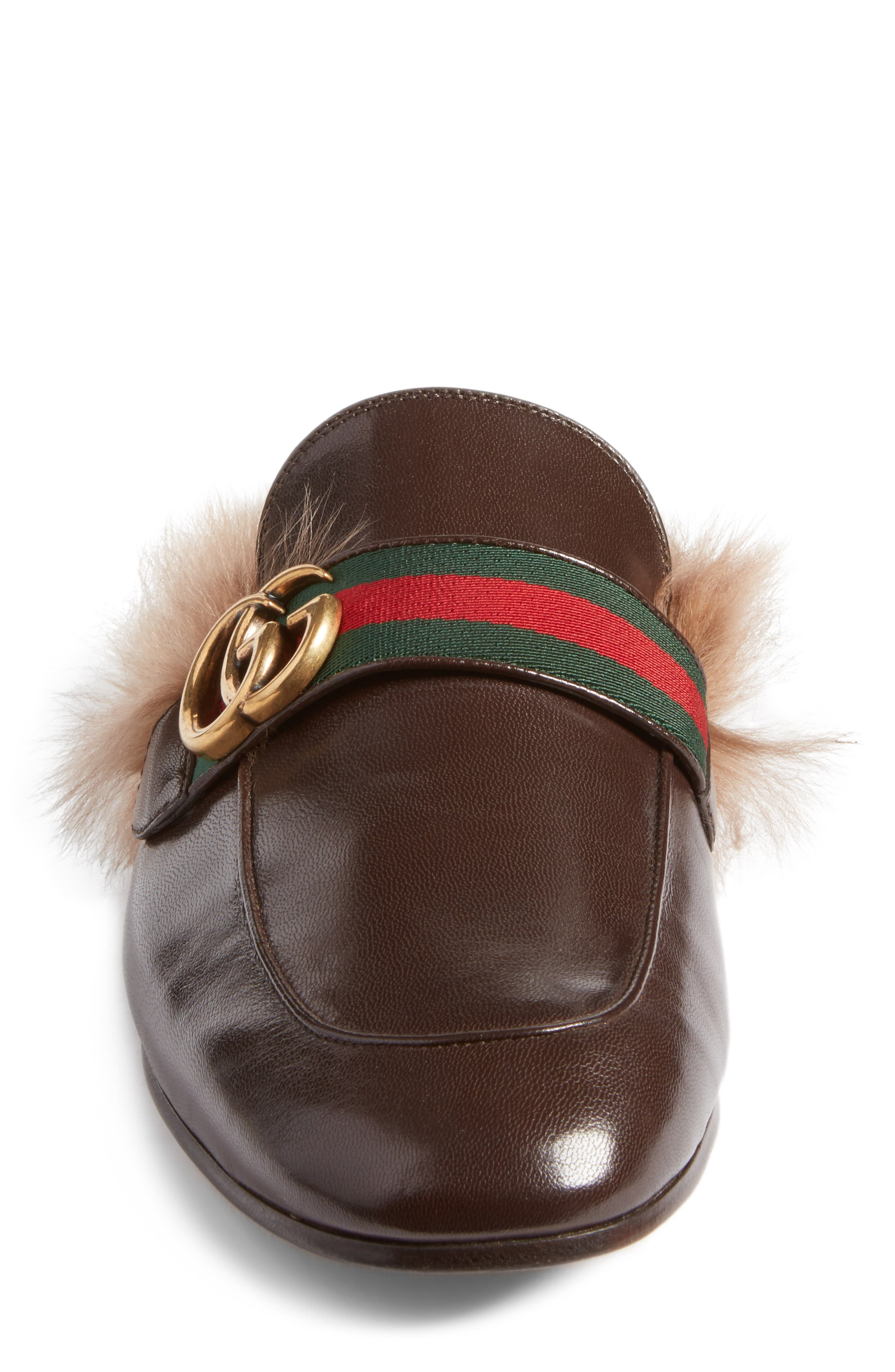 Alternate Image 4  - Gucci New Princetown Genuine Shearling Mule (Men)