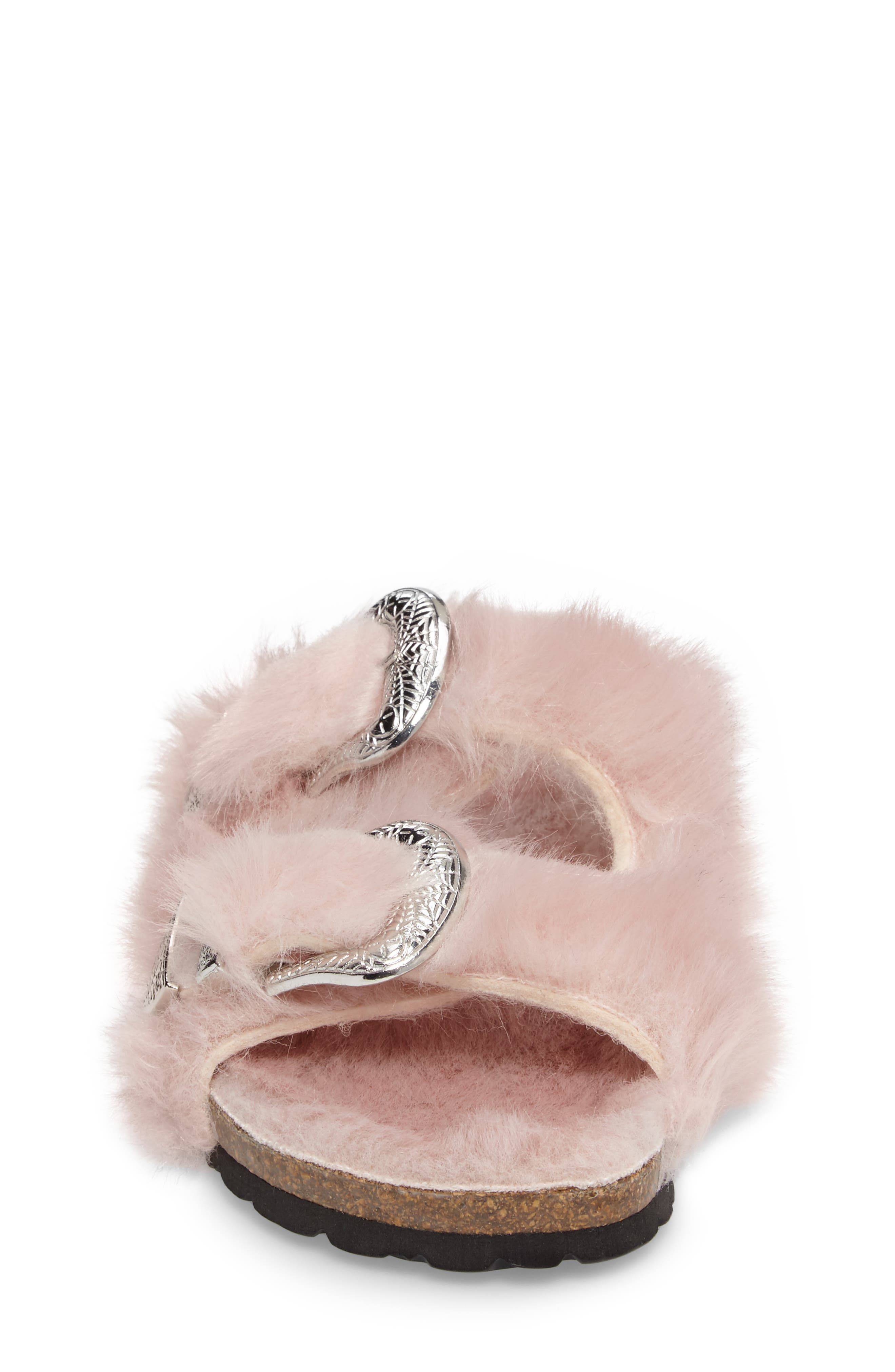 Alternate Image 4  - Topshop Falcon Faux Fur Slide Sandal (Women)