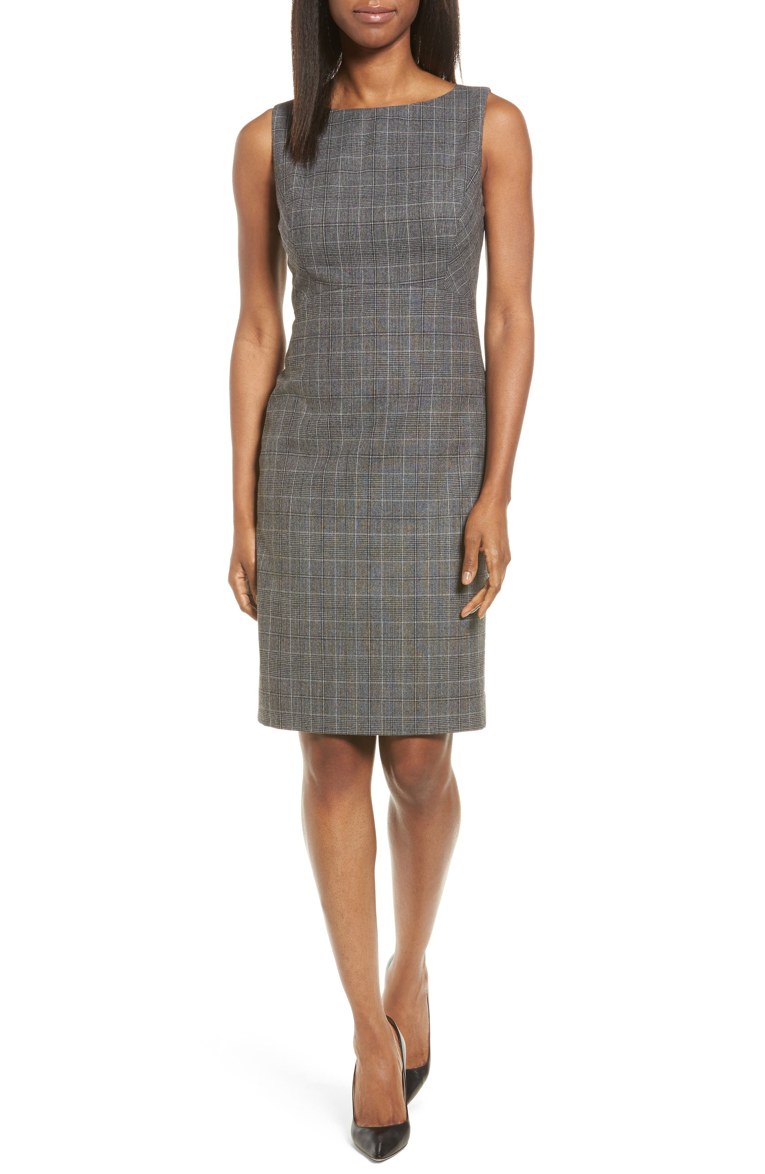 Classiques Entier® Check Wool Sheath Dress