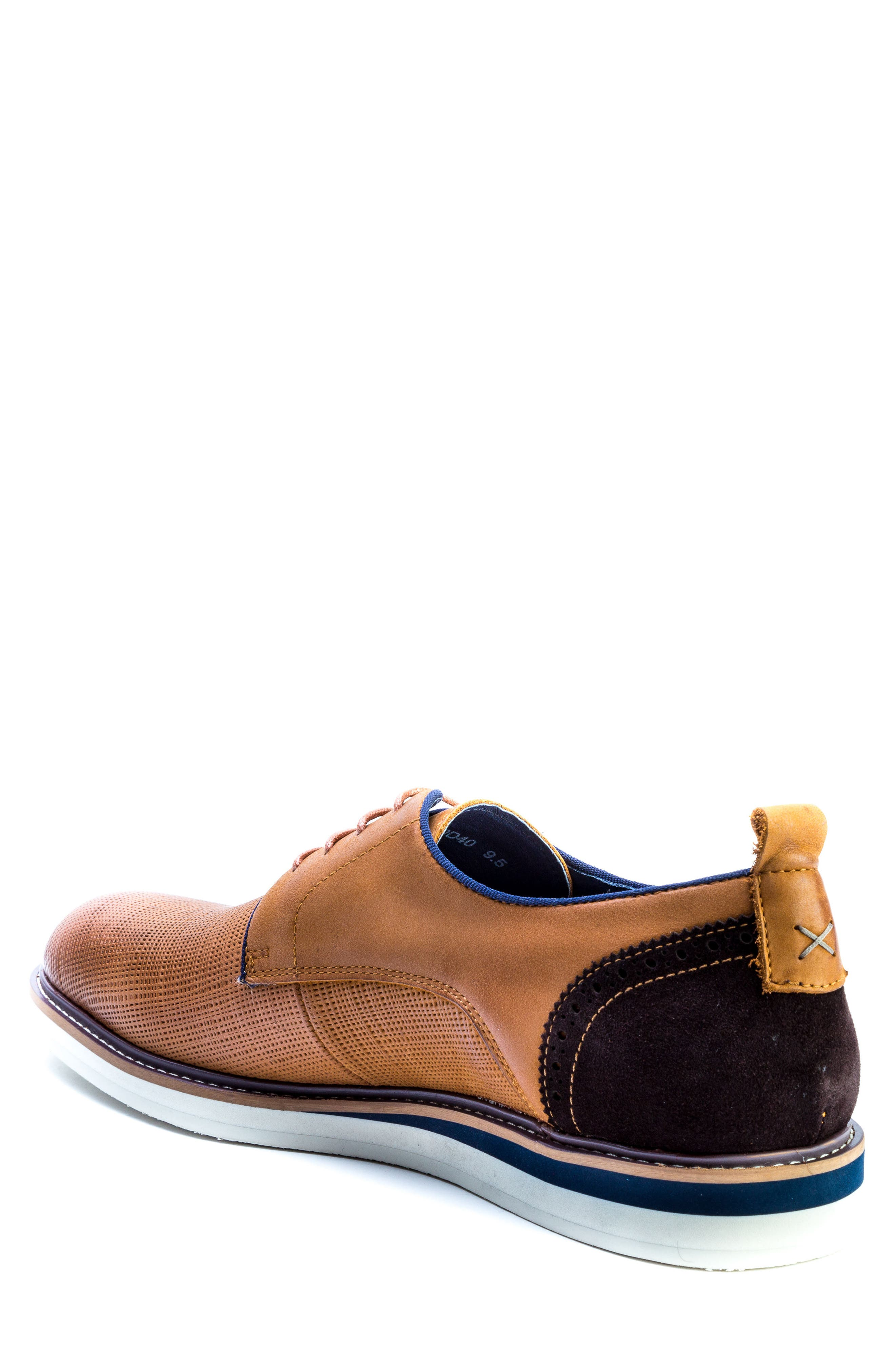 Homer Plain Toe Derby,                             Alternate thumbnail 2, color,                             Brown Suede