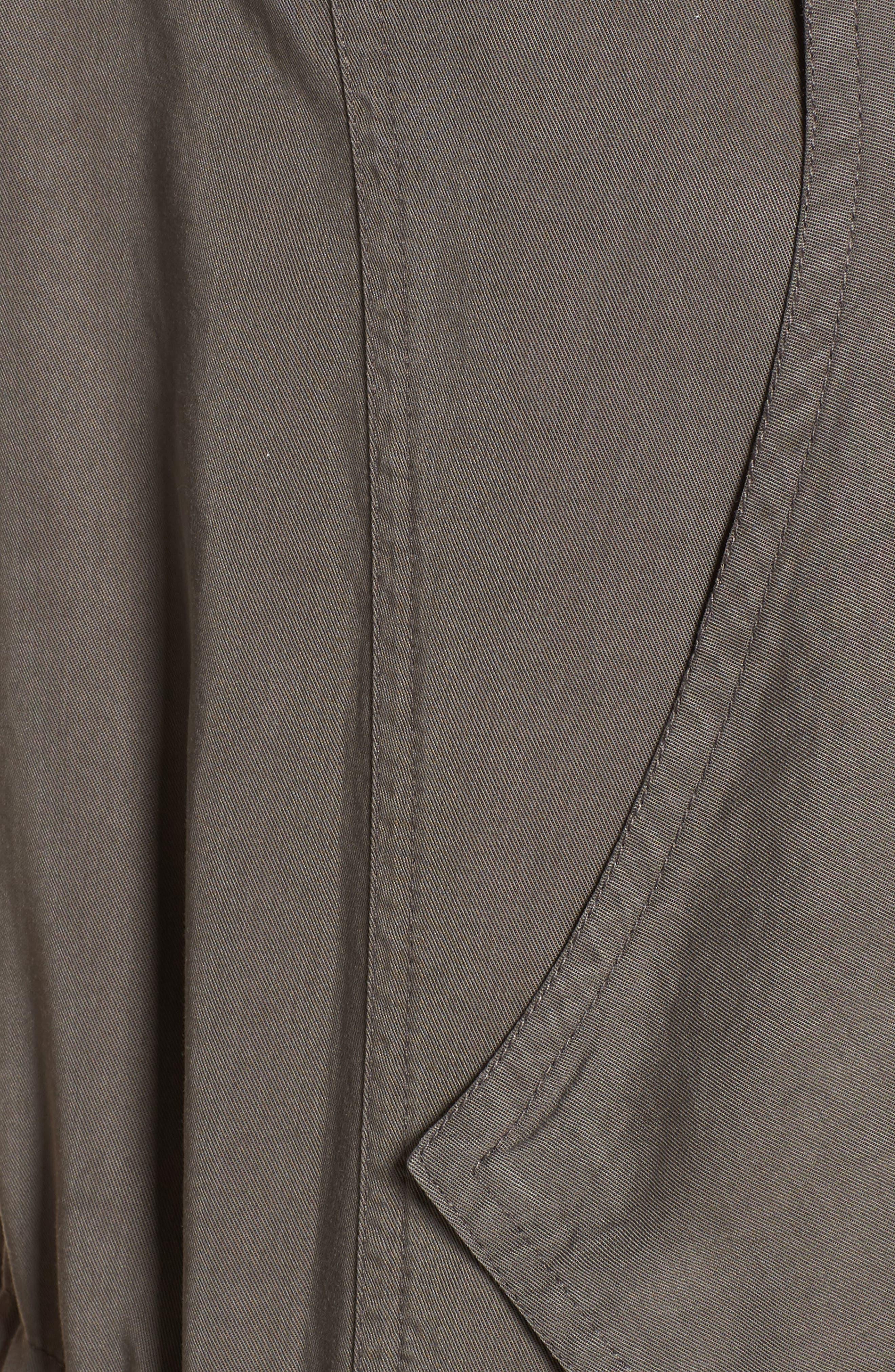 Drape Front Utility Vest,                             Alternate thumbnail 5, color,                             Olive