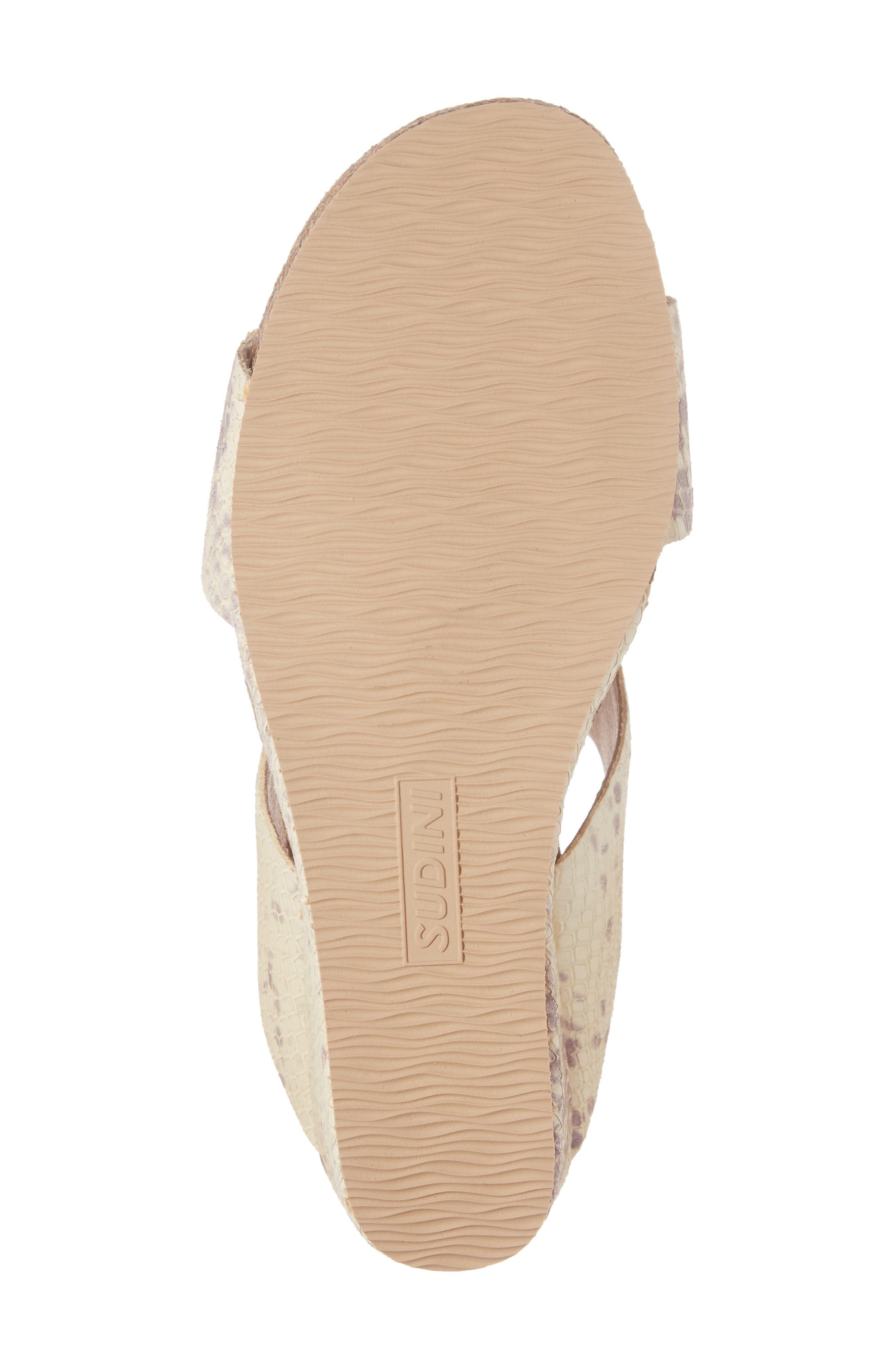 Alternate Image 6  - Sudini Berta Wedge Sandal (Women)