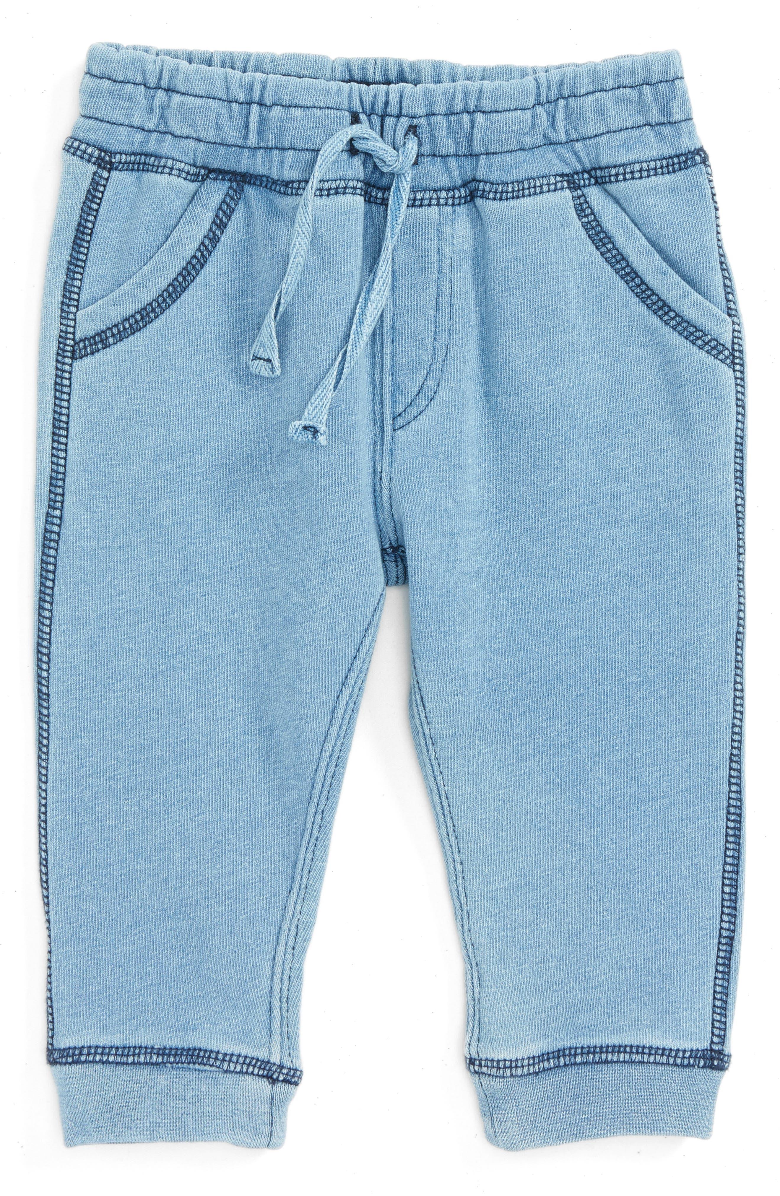 Knit Denim Pants,                         Main,                         color, Blue Indigo