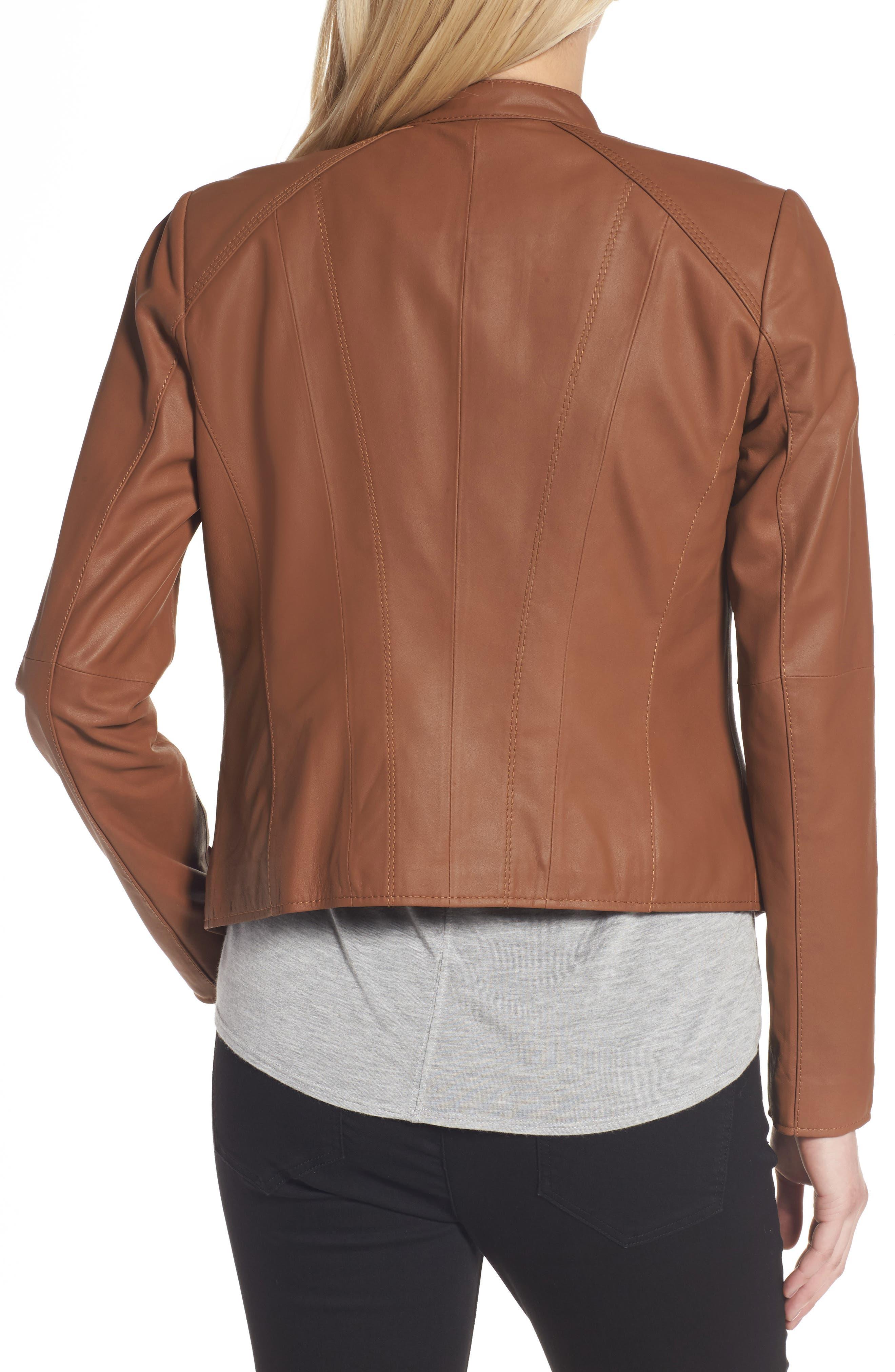 Alternate Image 2  - Andrew Marc Felicity Leather Moto Jacket