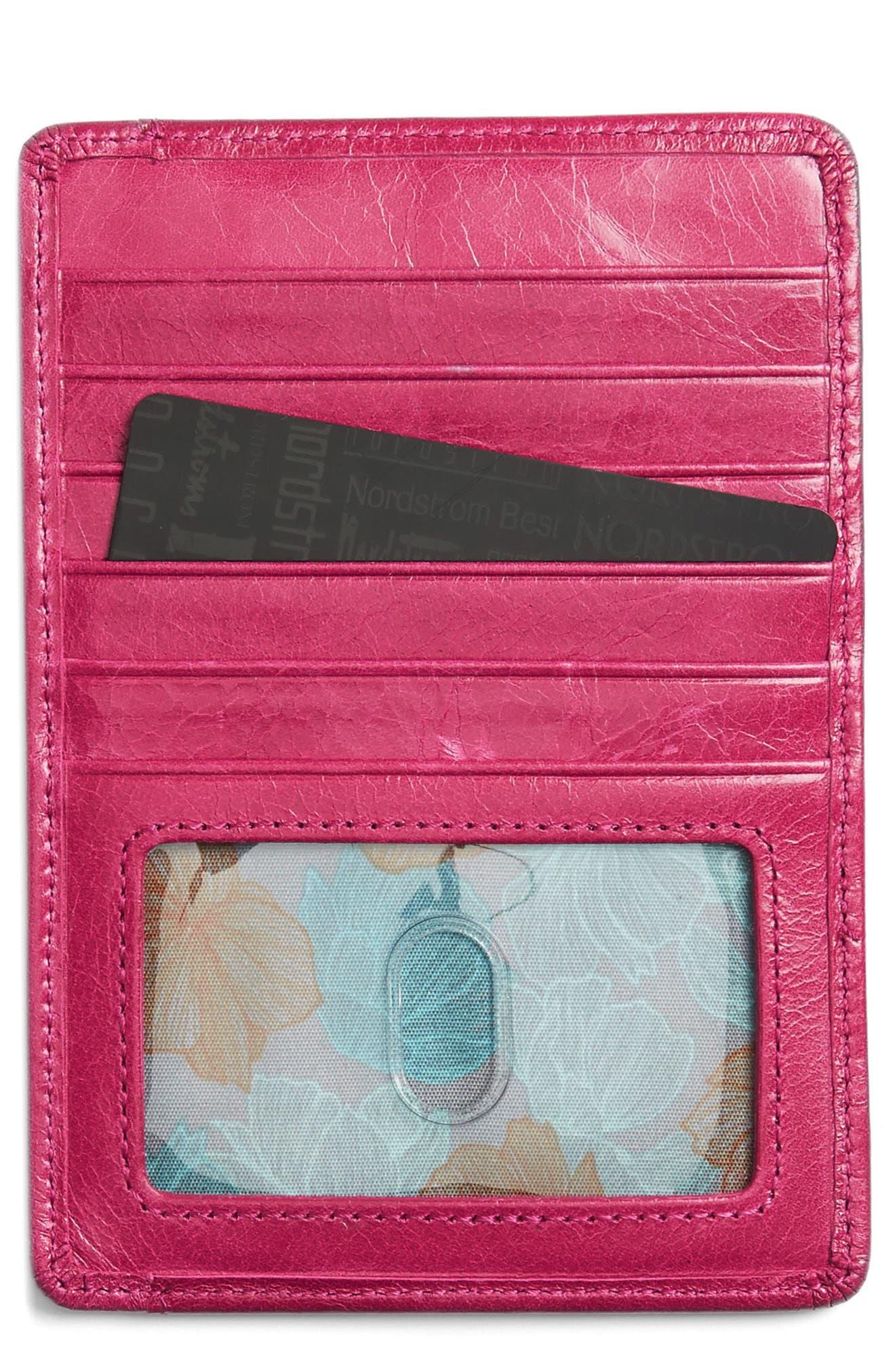 'Euro Slide' Credit Card & Passport Case,                         Main,                         color, Fuchsia