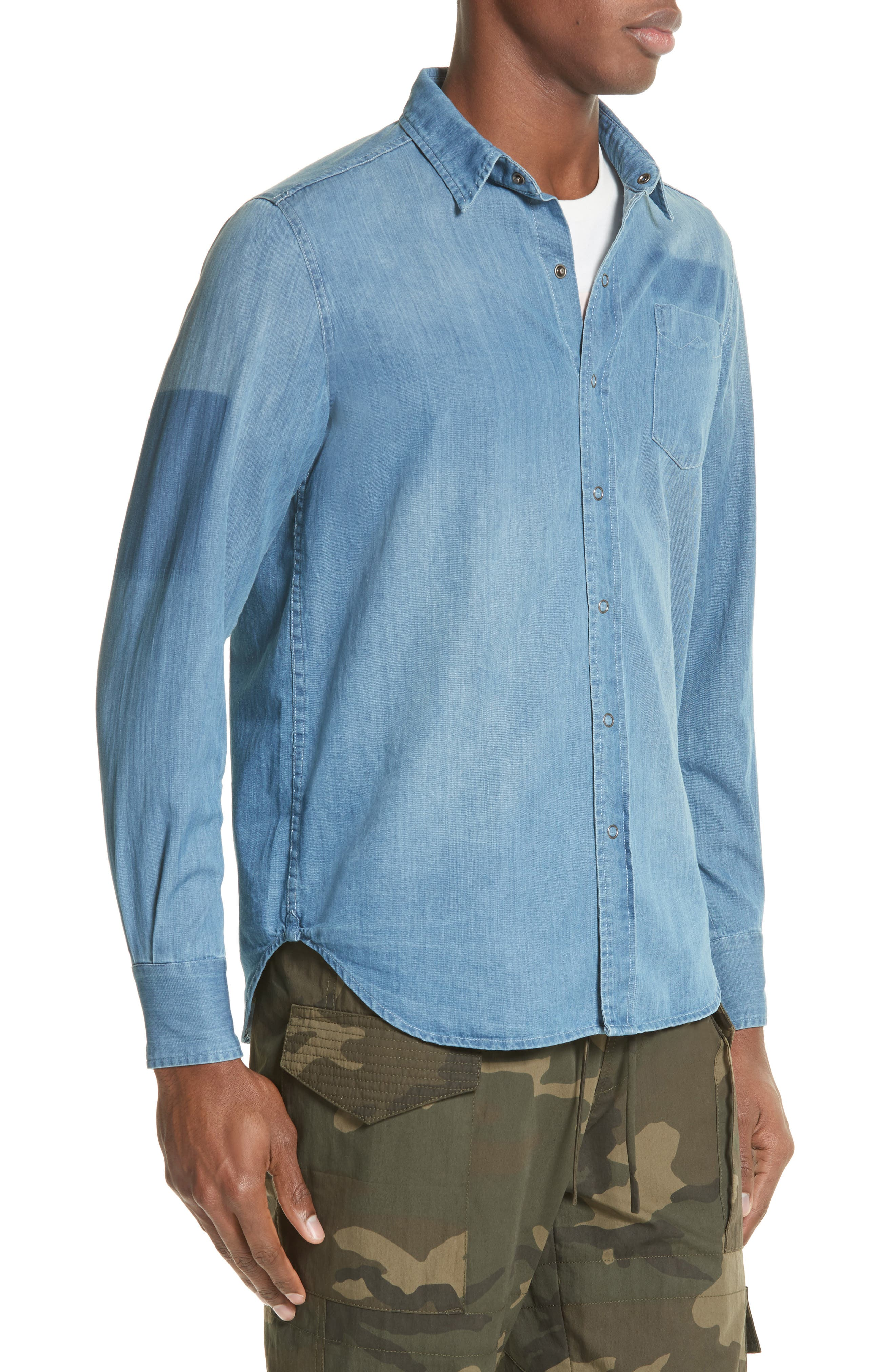 Alternate Image 3  - OVADIA & SONS Eastern Denim Sport Shirt