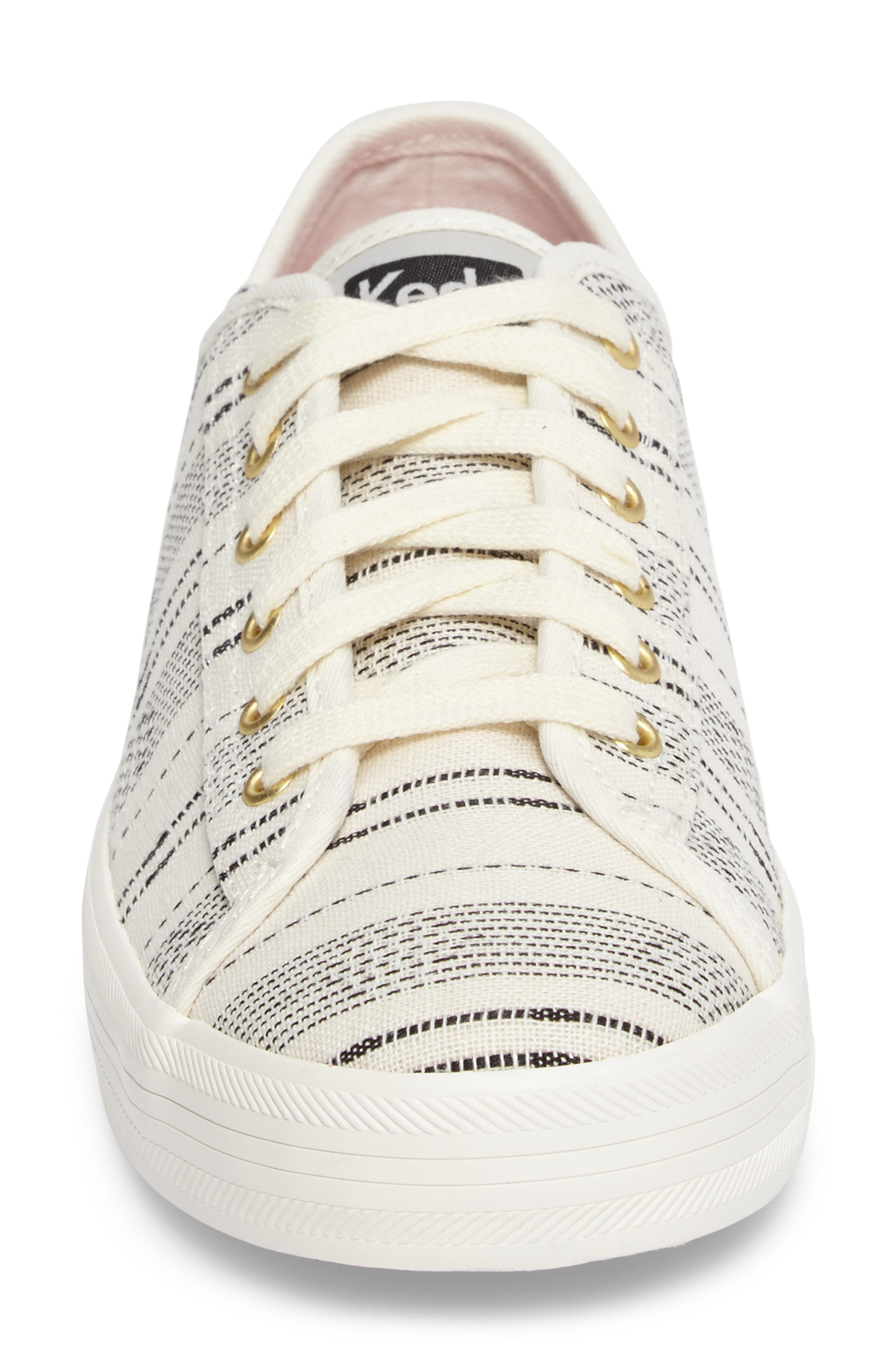 Kickstart Baja Stripe Sneaker,                             Alternate thumbnail 4, color,                             Cream