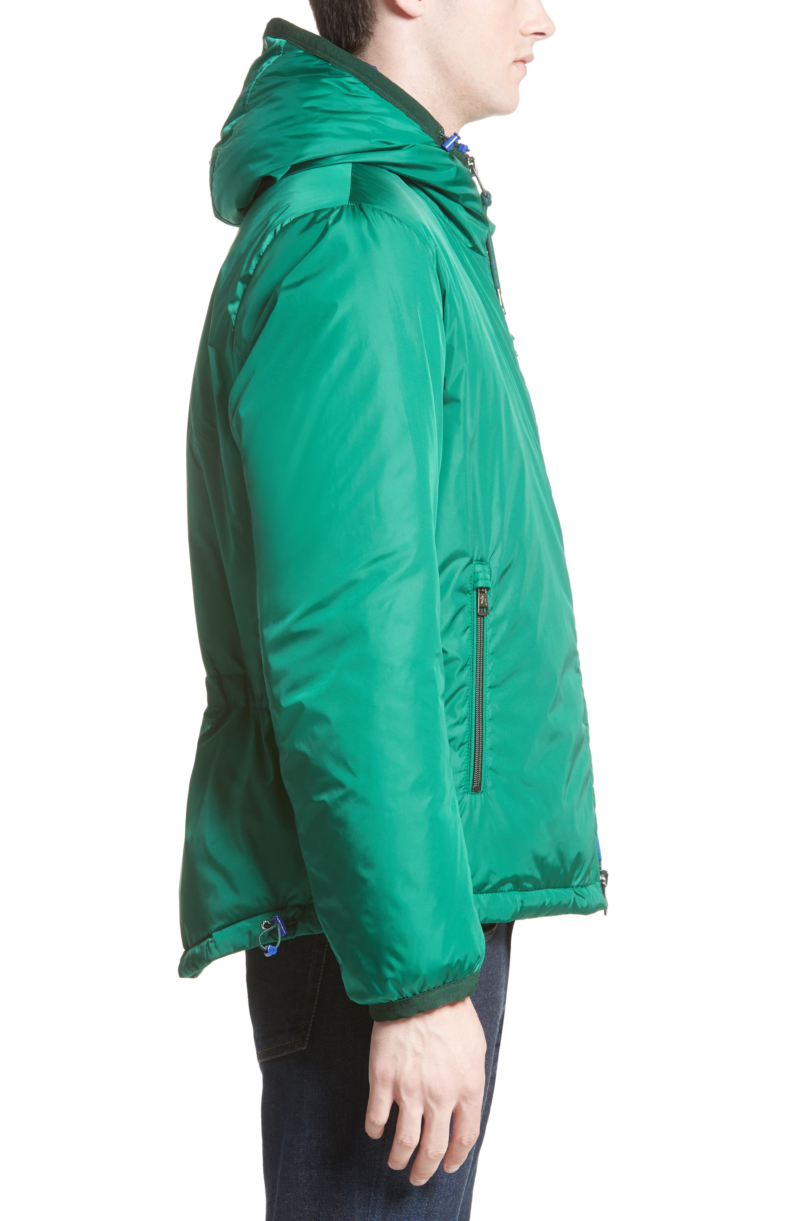 Guimet Hooded Down Jacket,                             Alternate thumbnail 3, color,                             Forest Green