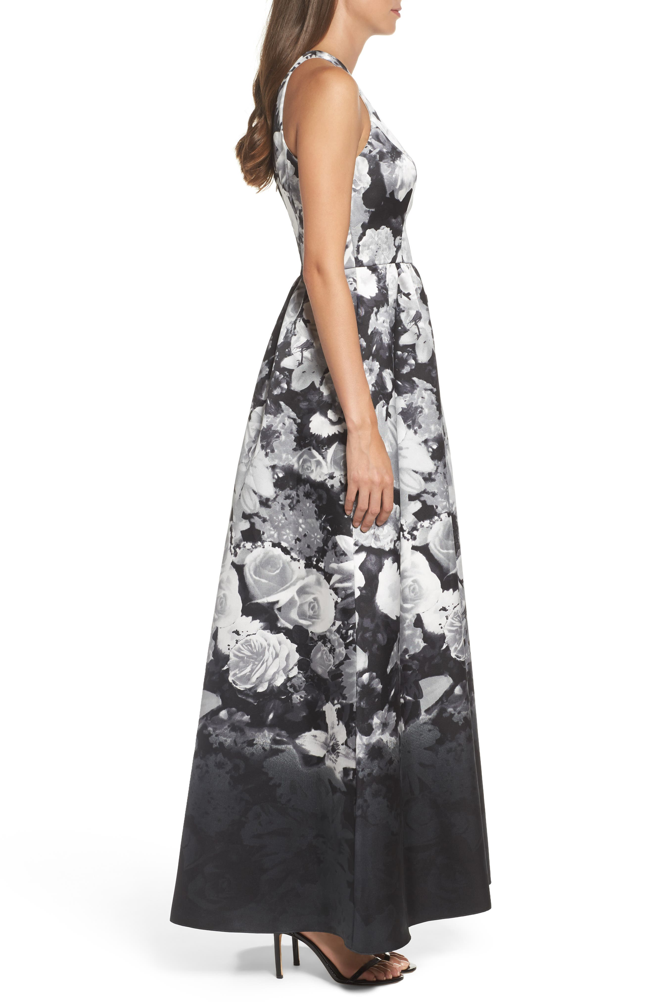 Alternate Image 3  - Alfred Sung Floral Sateen Gown