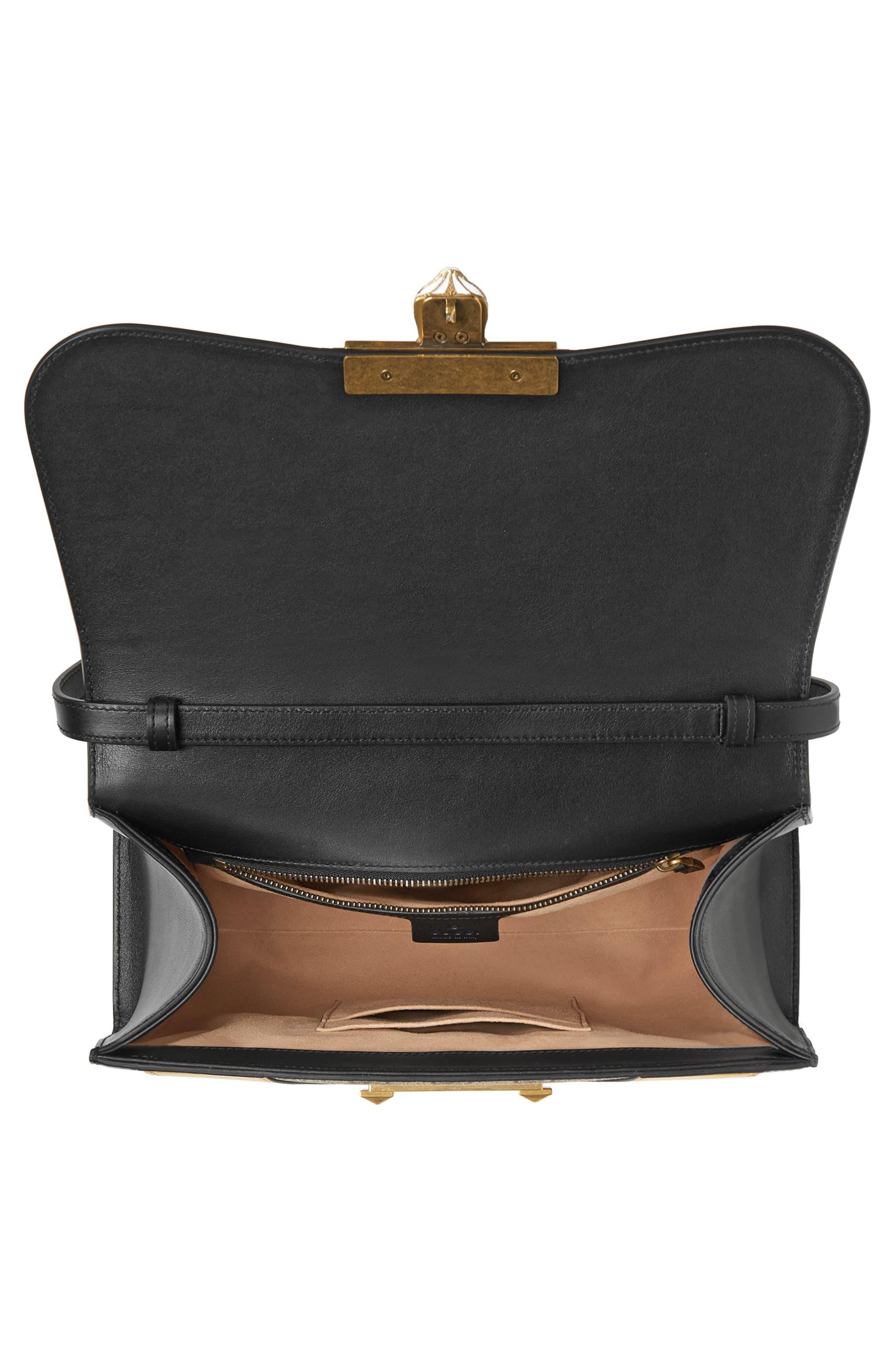 Alternate Image 3  - Gucci Osiride Top Handle GG Supreme & Leather Satchel