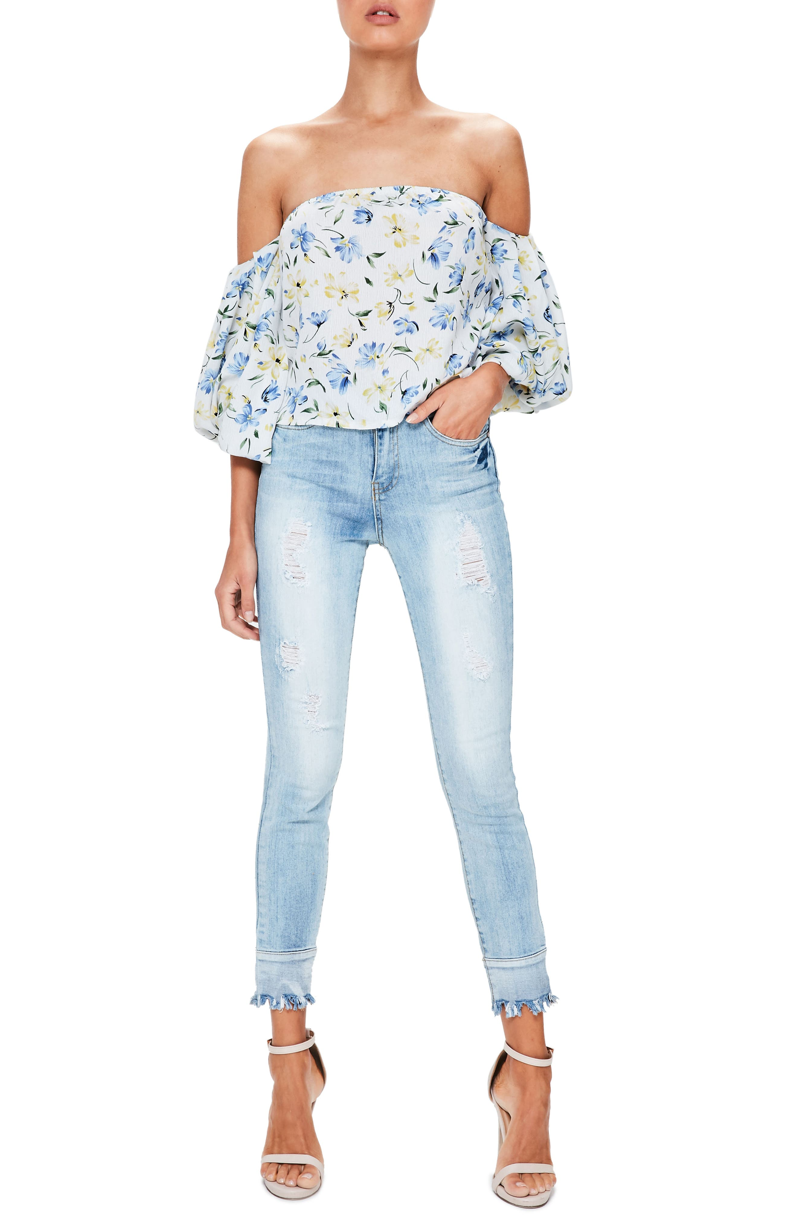 Main Image - Missguided Bardot Off the Shoulder Blouse