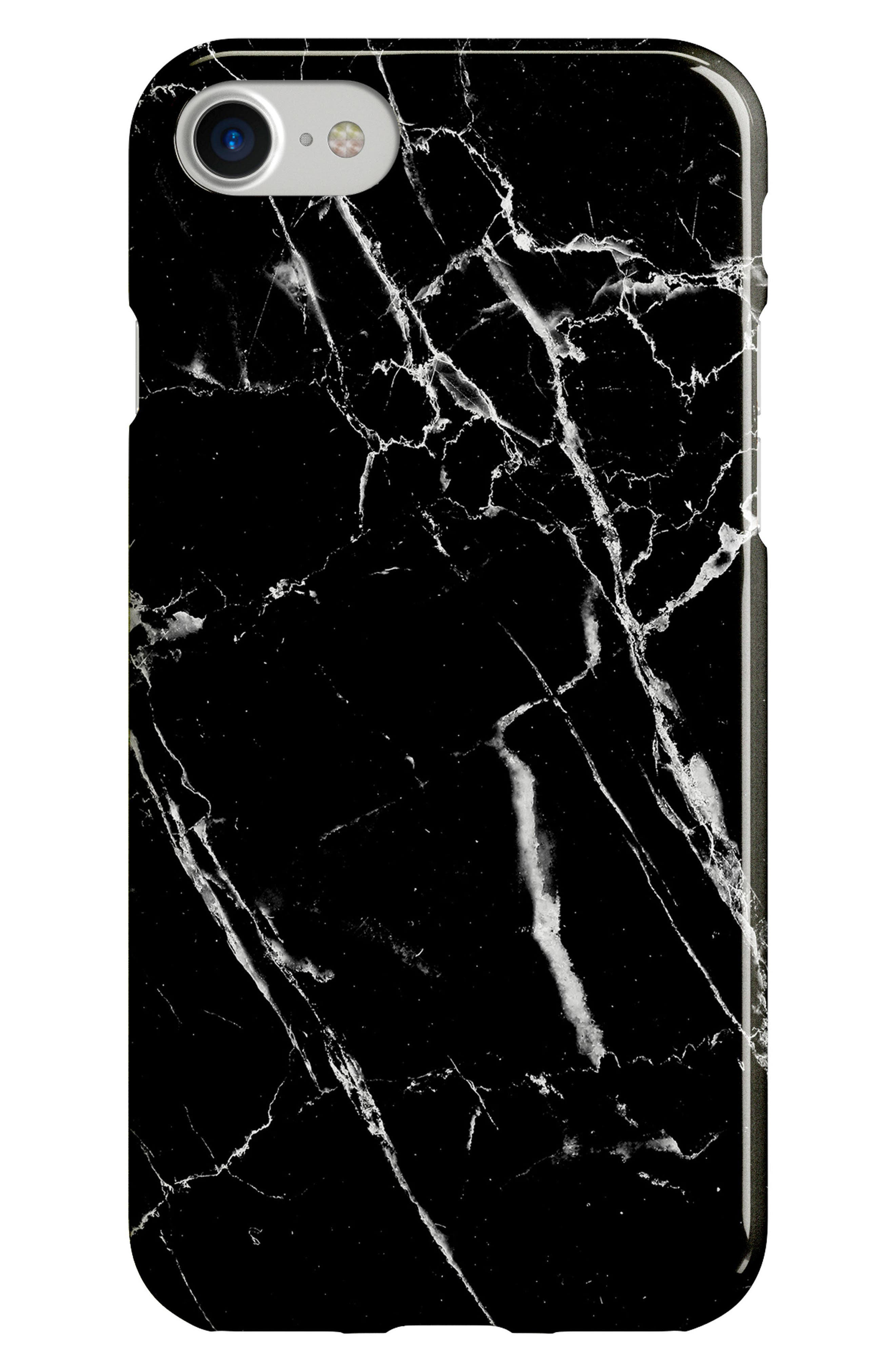Black Marble iPhone 6/6s/7/8 Case,                         Main,                         color, Black