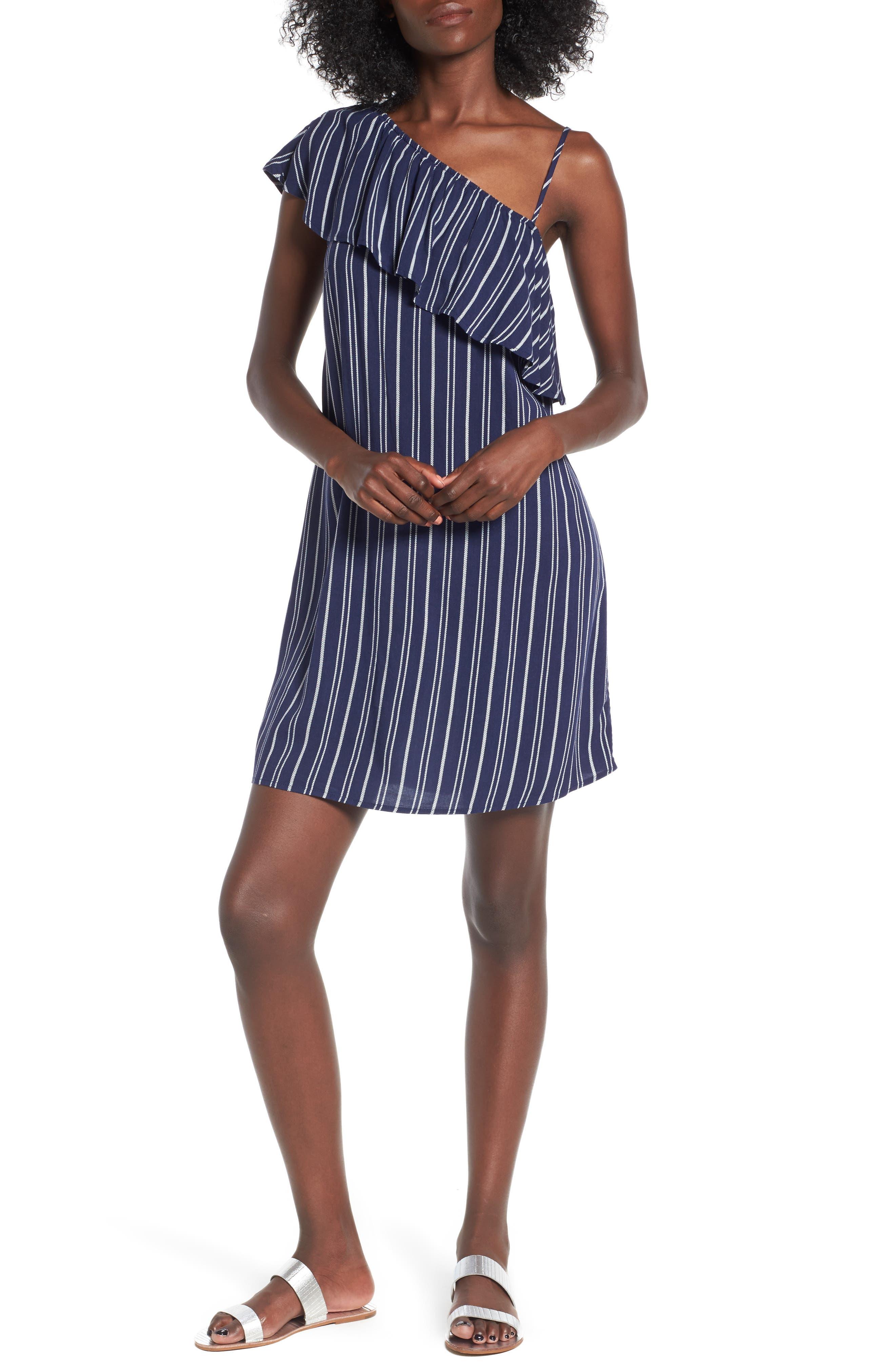 Alternate Image 1 Selected - Love, Fire Asymmetrical Ruffle Dress