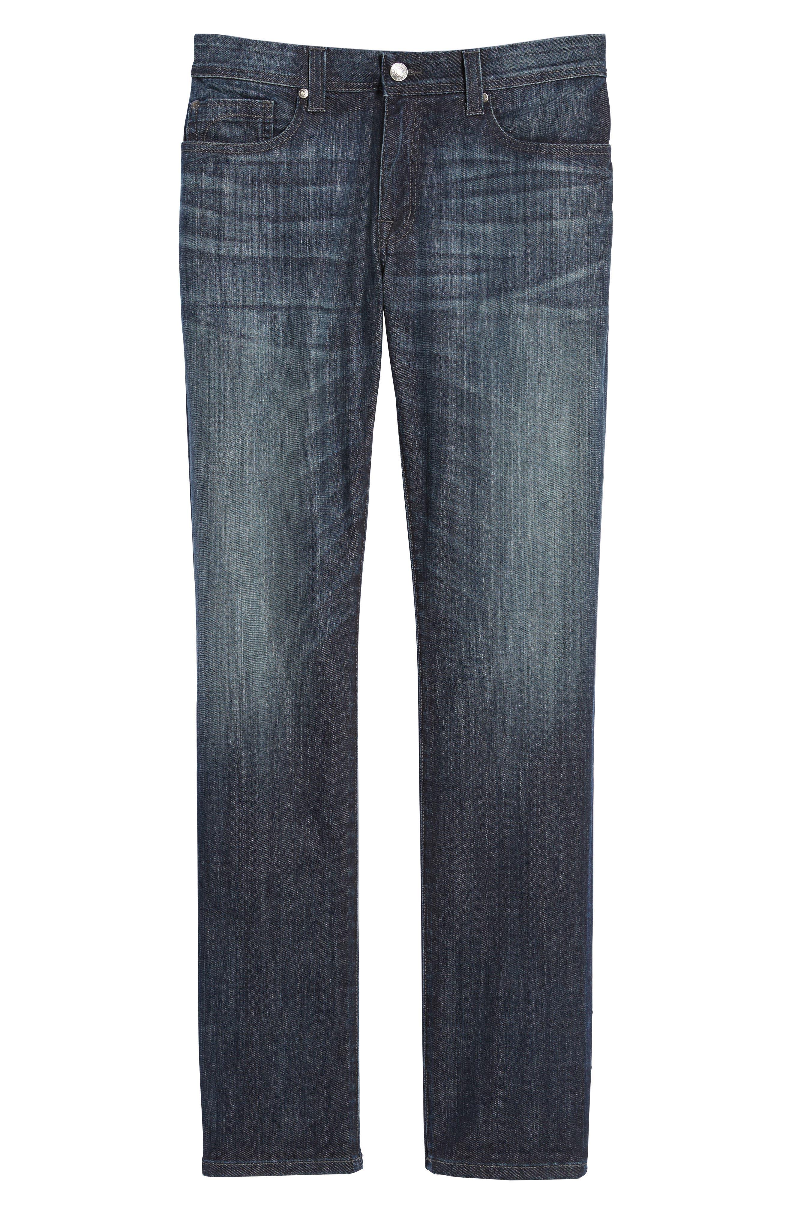 Jimmy Slim Straight Leg Jeans,                             Alternate thumbnail 7, color,                             Scorpion