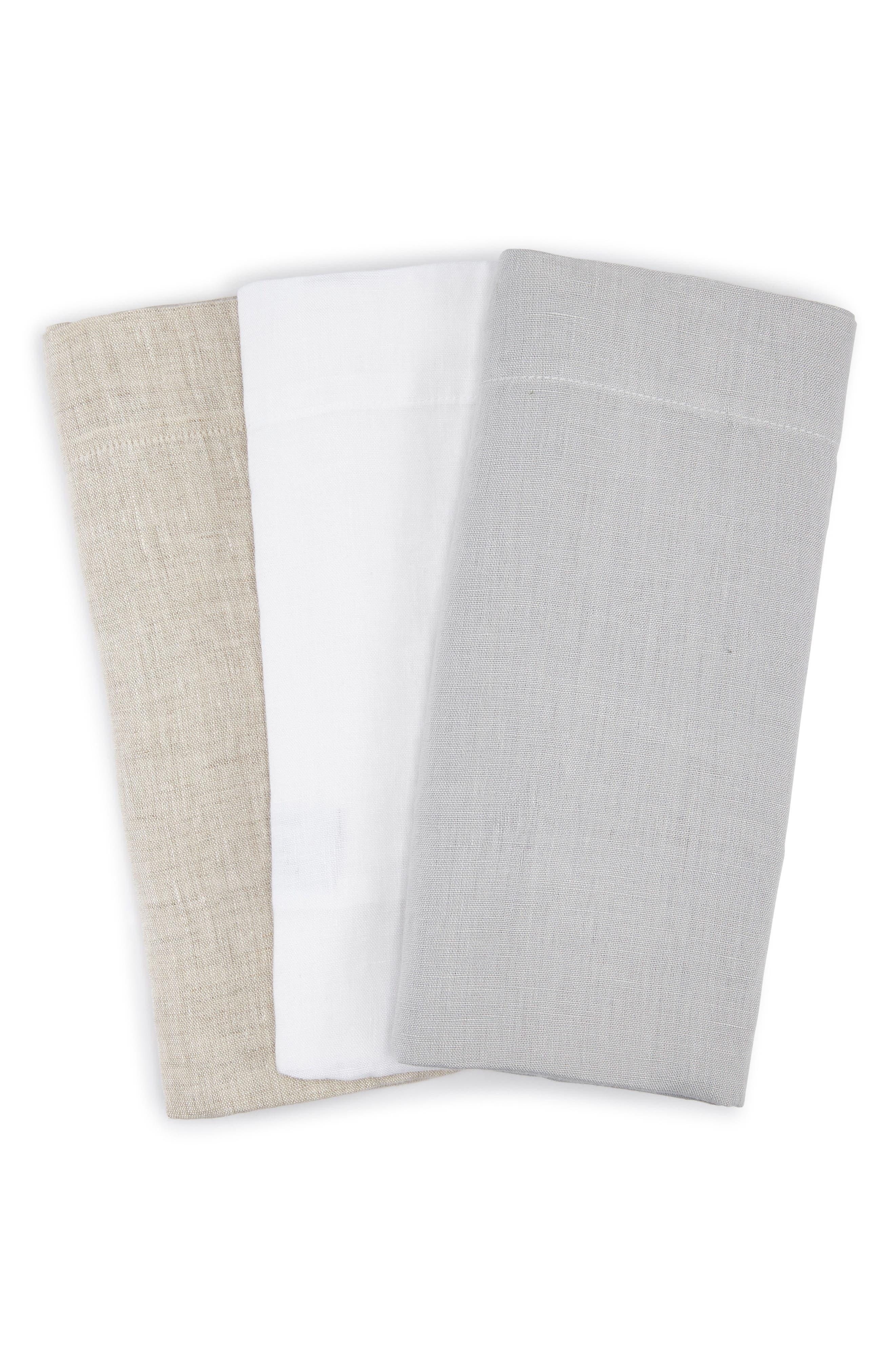 Alternate Image 3  - KASSATEX Lino Linen 300 Thread Count Pillowcase