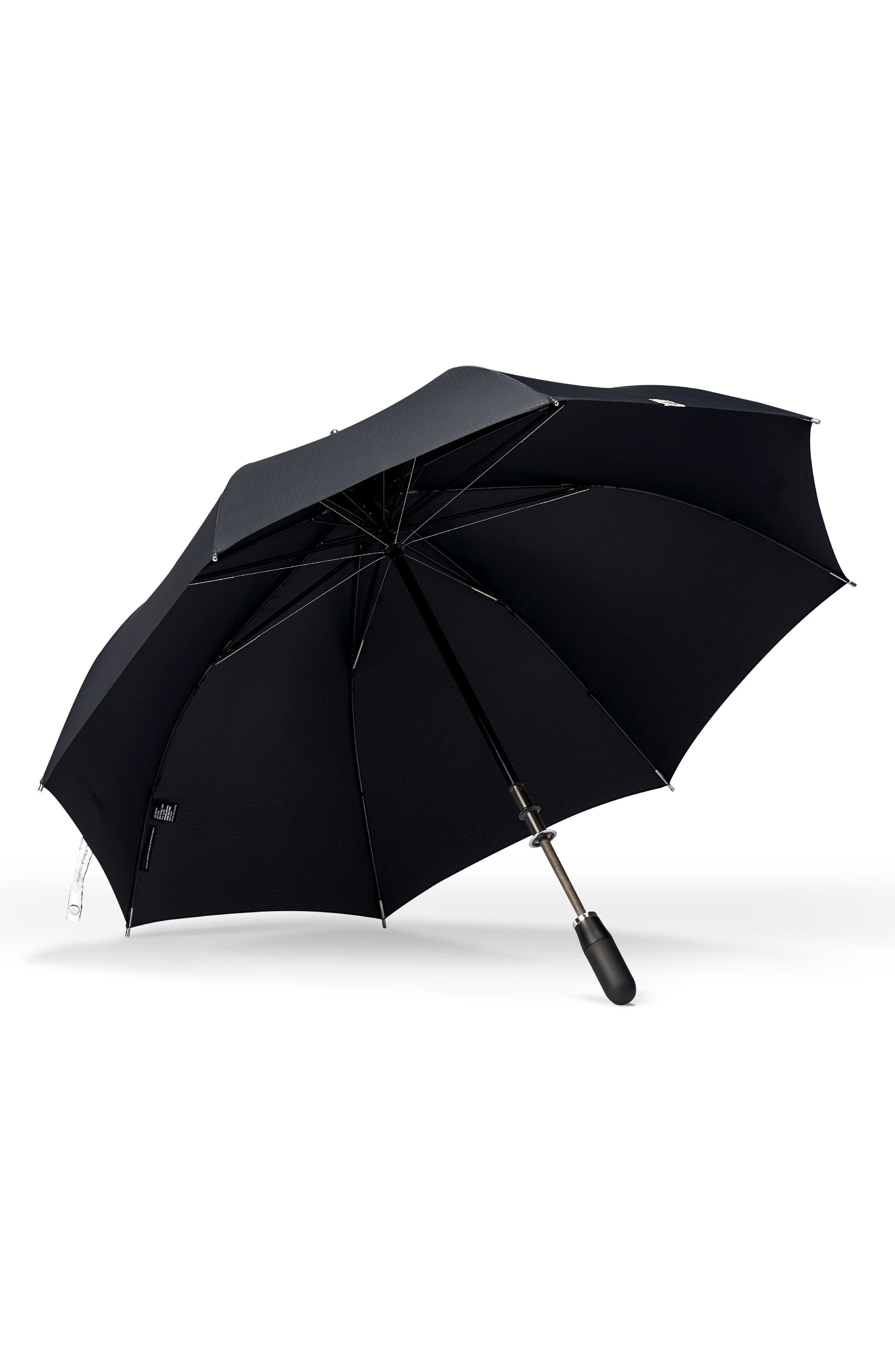 Alternate Image 2  - ShedRain Stratus Auto Open Stick Umbrella