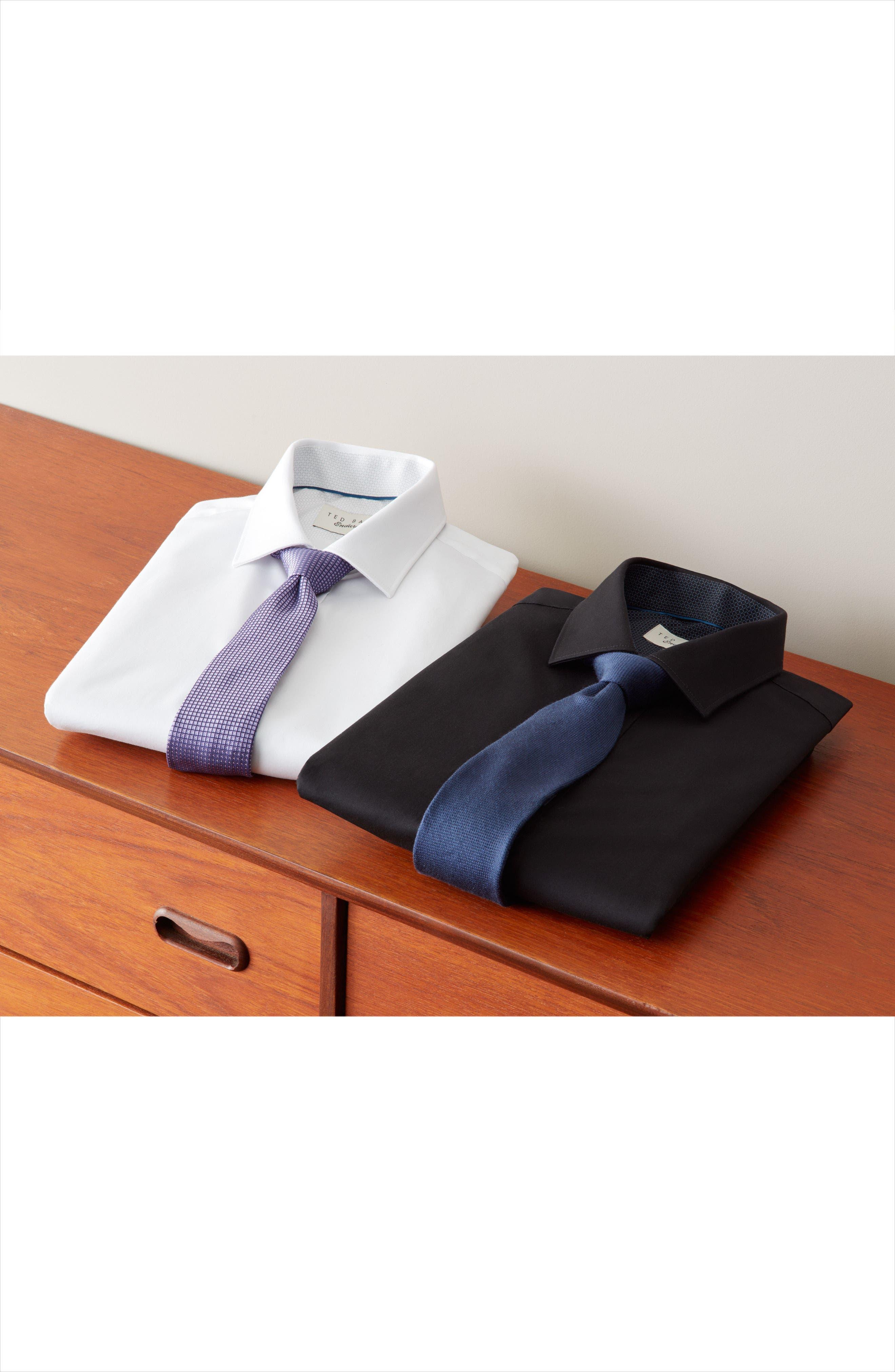 Alternate Image 6  - Ted Baker London Caramor Trim Fit Solid Dress Shirt