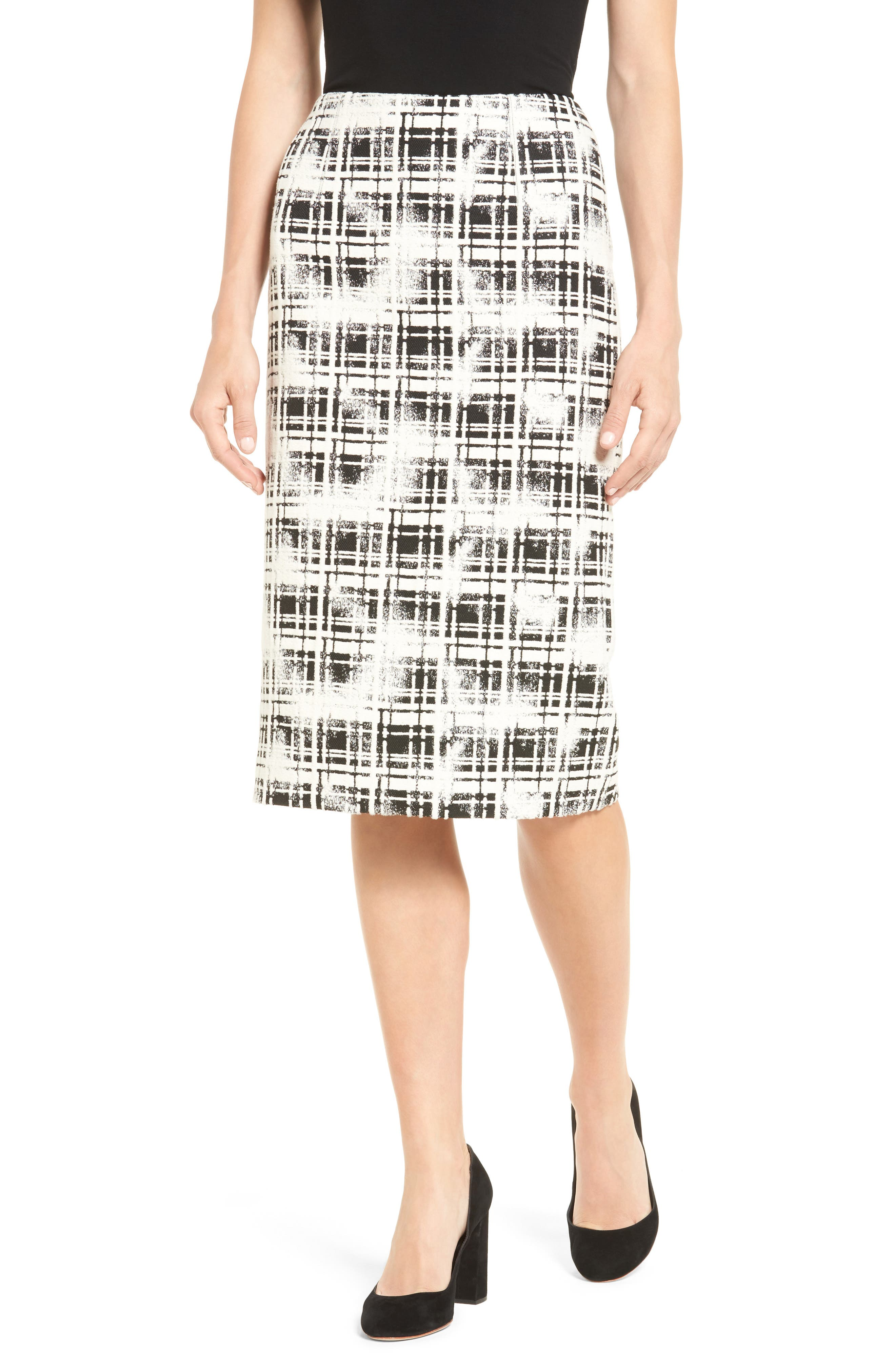 Emerson Rose Plaid Pencil Skirt