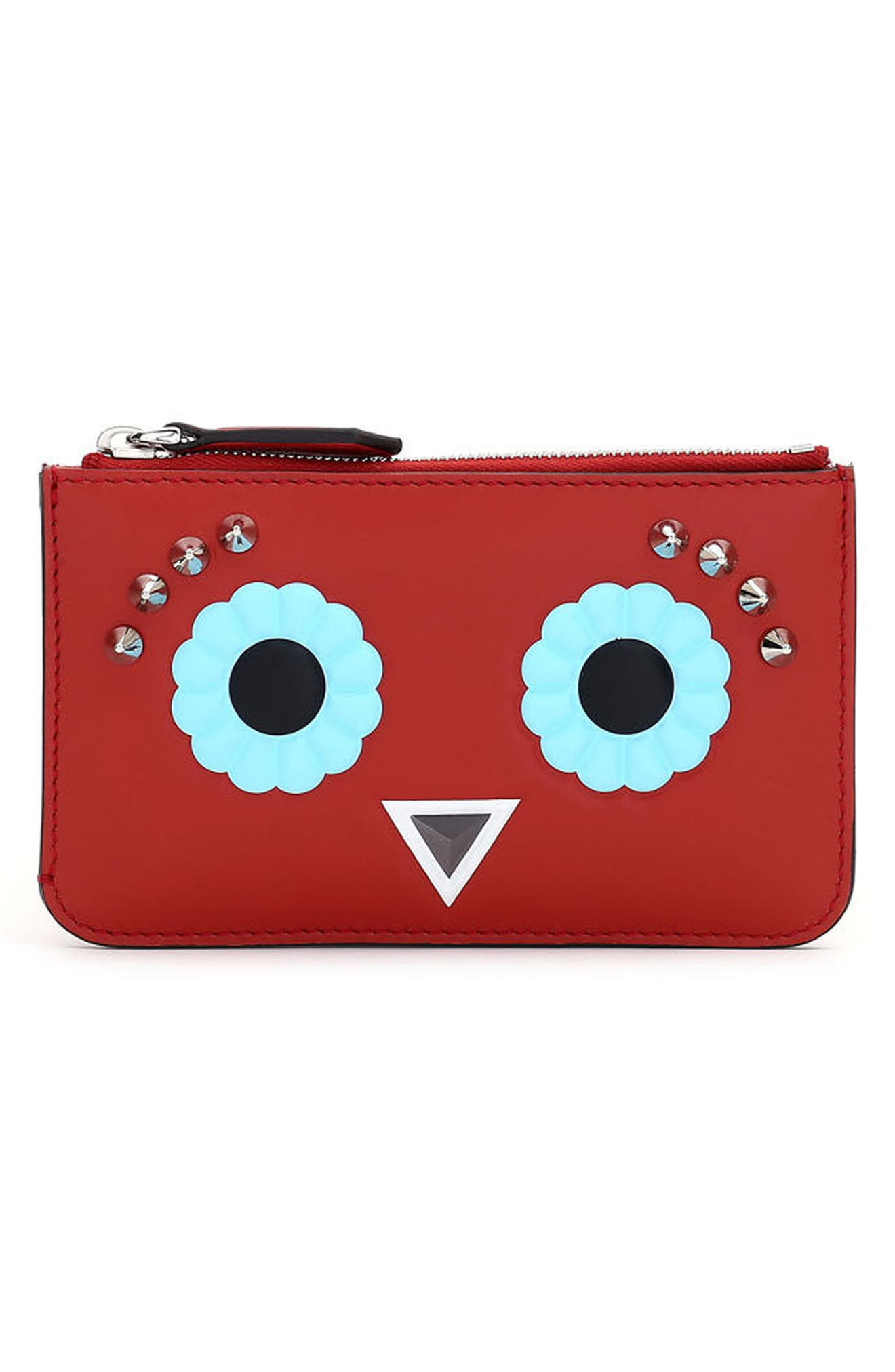Alternate Image 1 Selected - Fendi Faces Leather Key Case