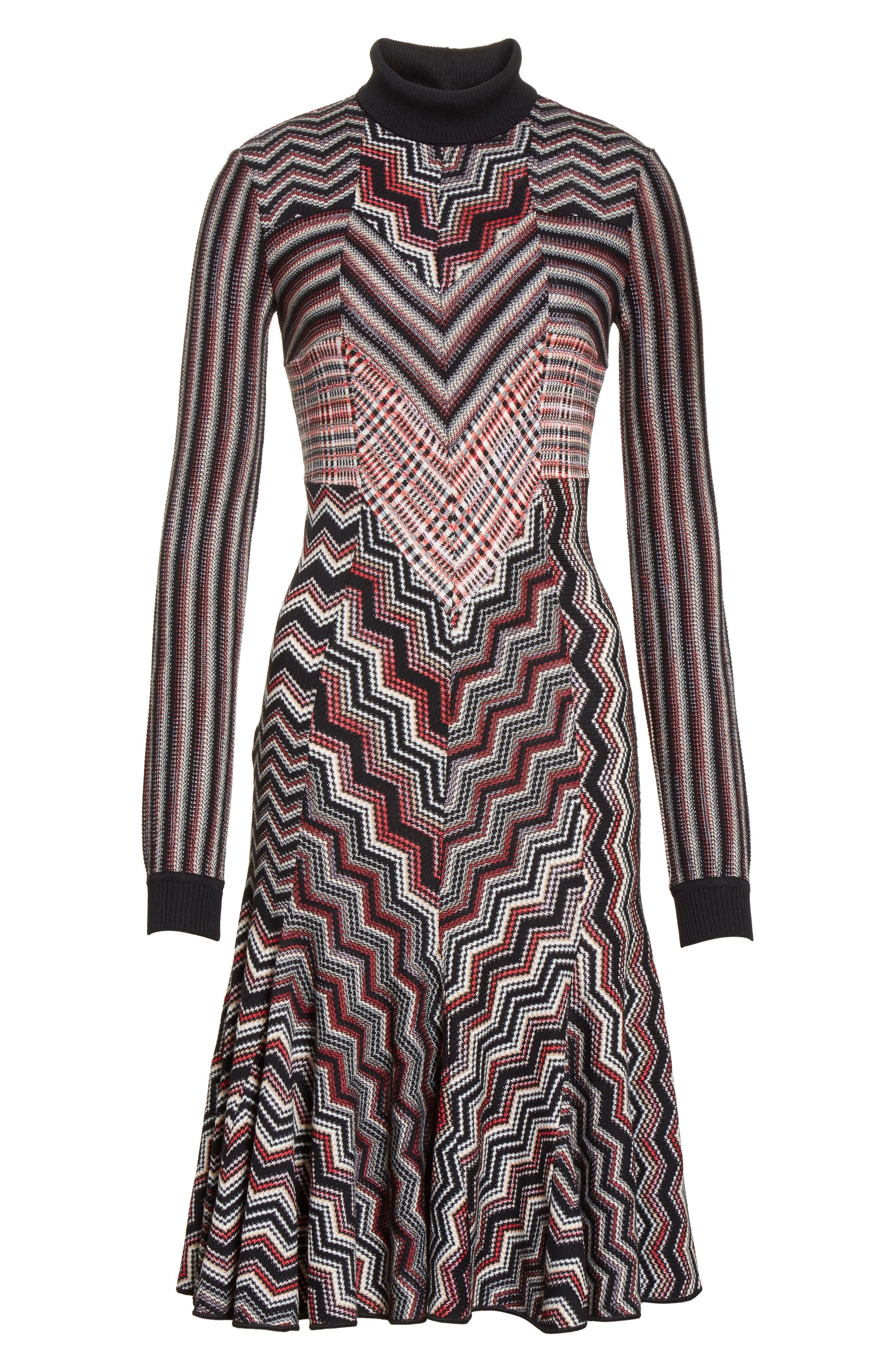 Alternate Image 4  - Missoni Patchwork Wool Blend Knit Dress