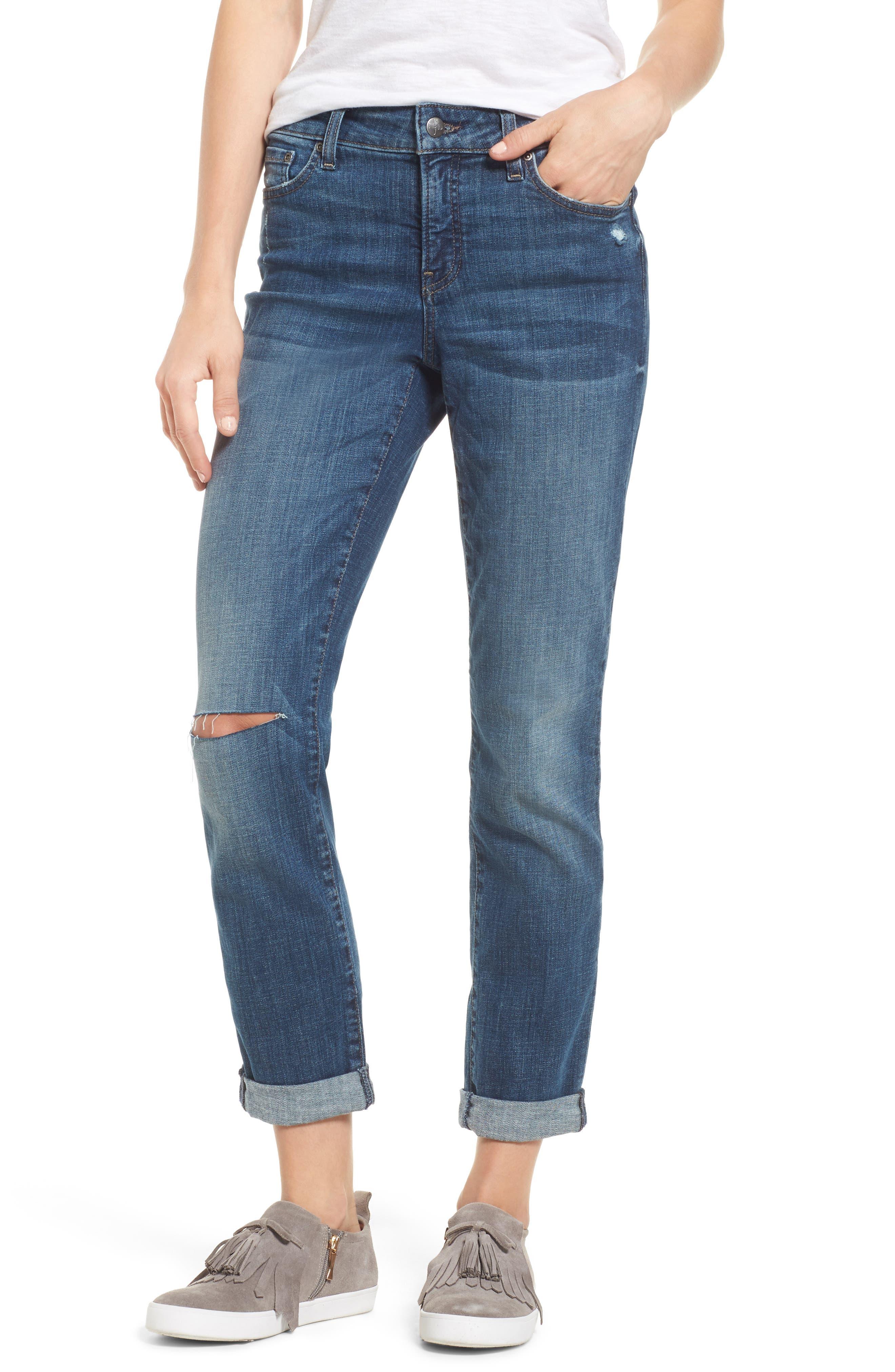 Alternate Image 1 Selected - NYDJ Stretch Boyfriend Jeans (Regular & Petite)