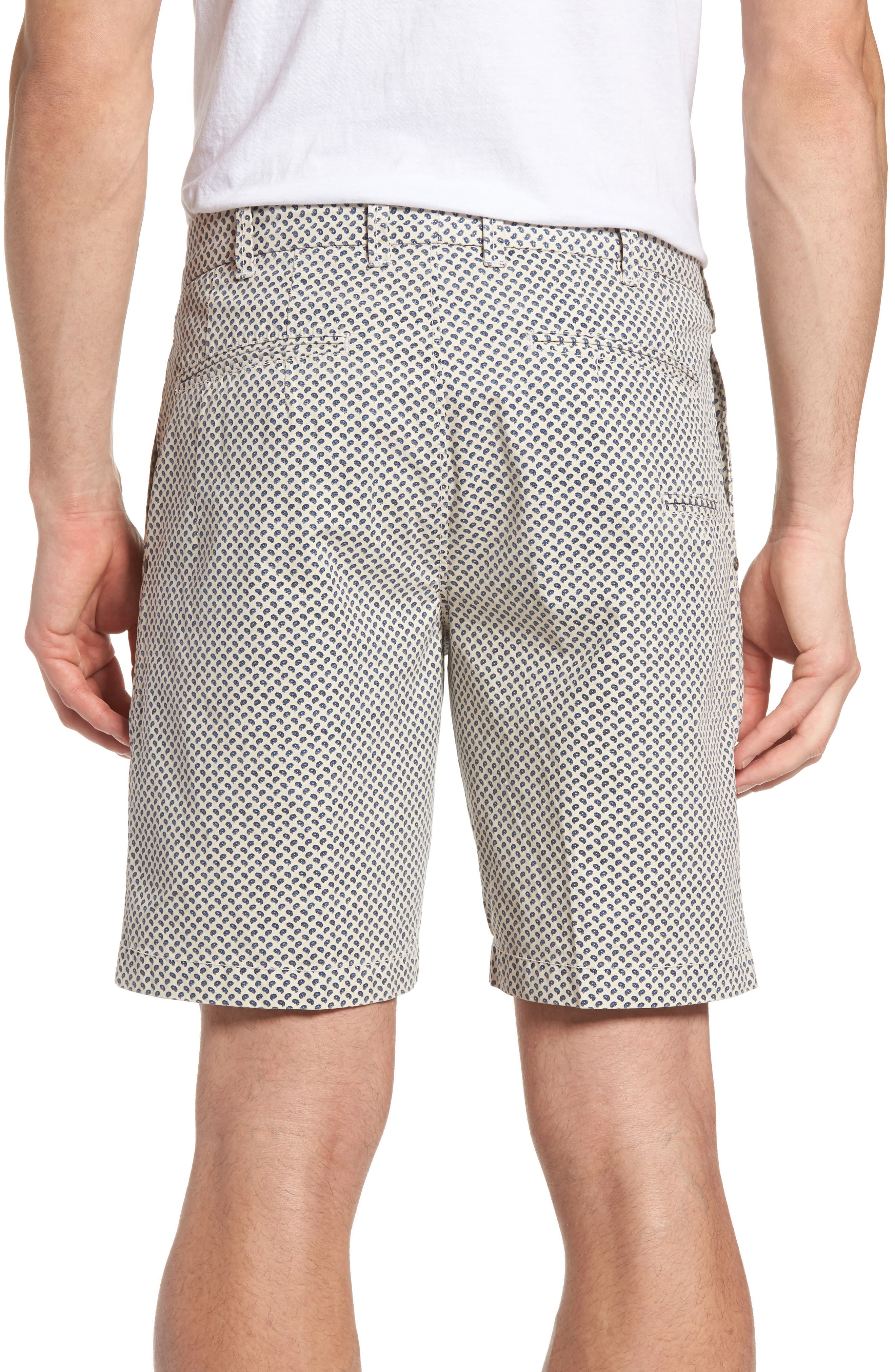 Pierce Print Flat Front Shorts,                             Alternate thumbnail 2, color,                             Stone