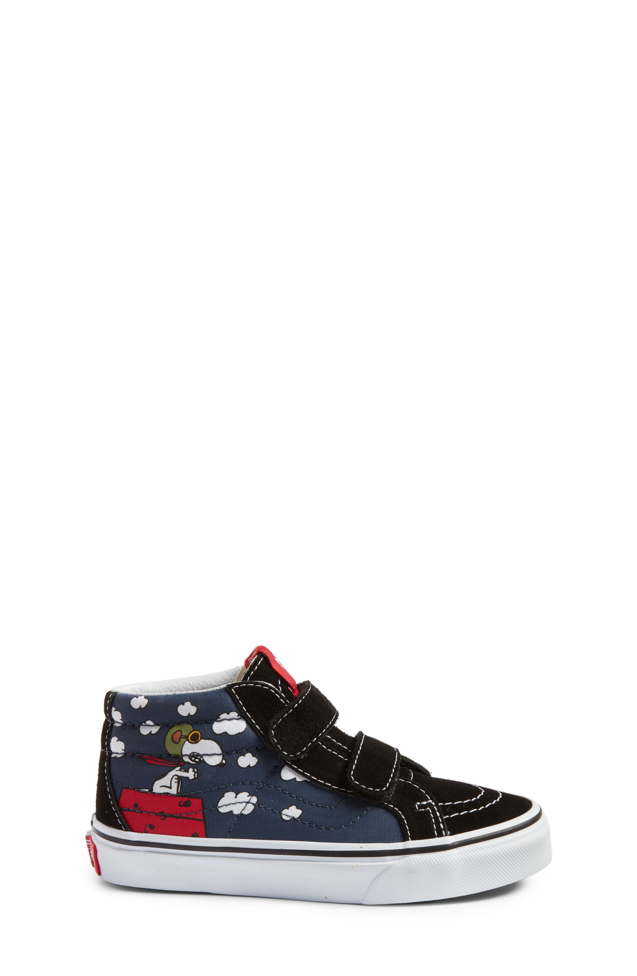 x Peanuts SK8-Mid Reissue V Sneaker,                             Alternate thumbnail 3, color,                             Flying Ace/ Blue Canvas