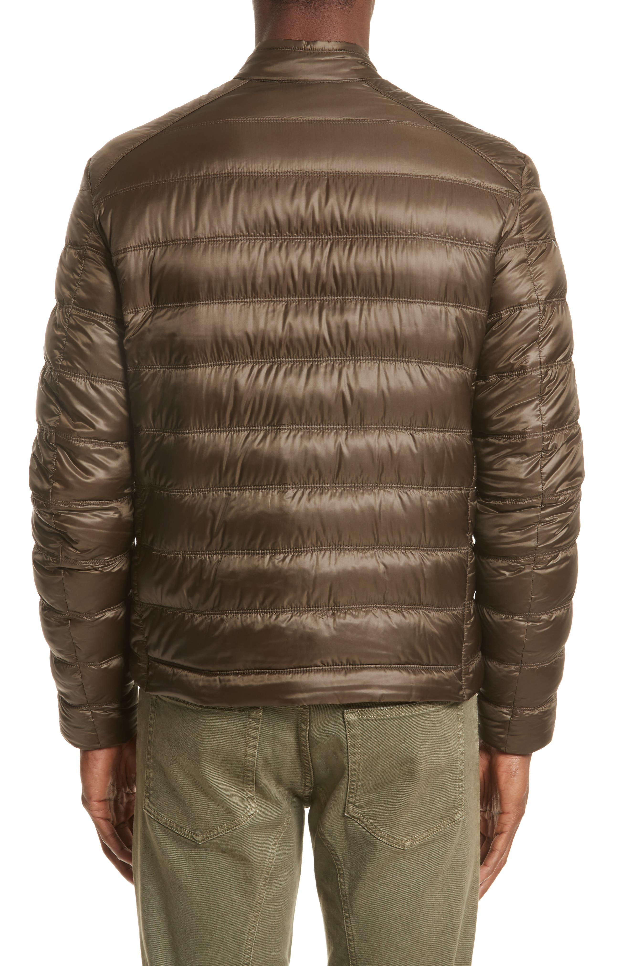 Halewood Quilted Down Jacket,                             Alternate thumbnail 2, color,                             Dark Moss Green
