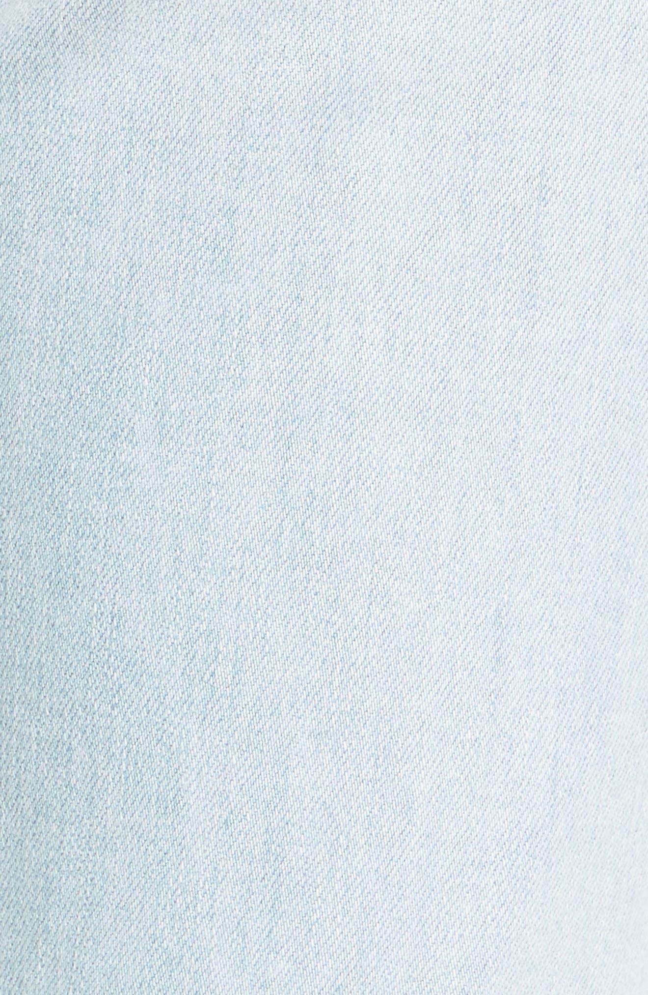 High Waist Crop Slim Jeans,                             Alternate thumbnail 5, color,                             Beach Slang