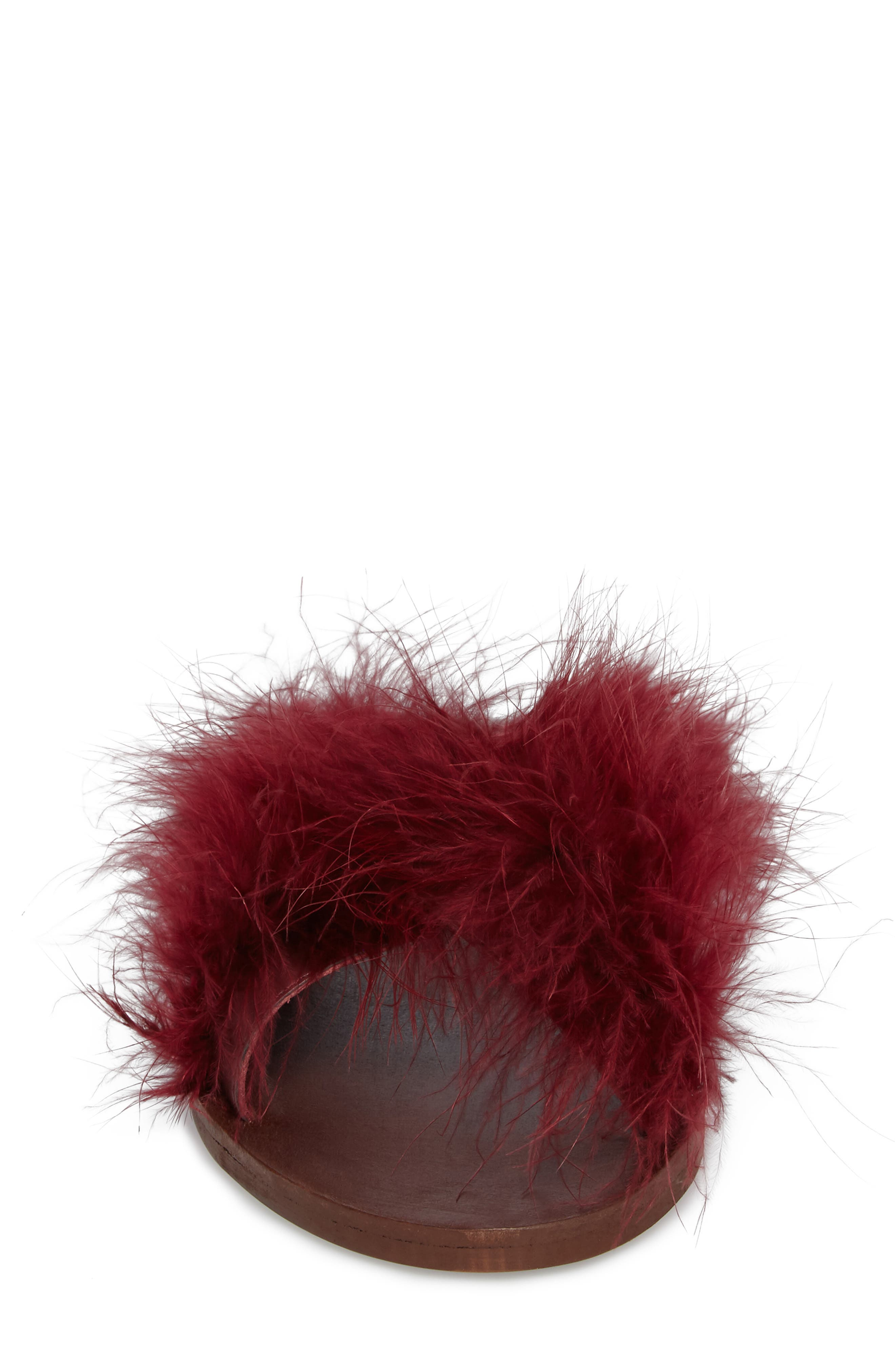 Alternate Image 4  - Topshop Fenella Feathered Sandal (Women)