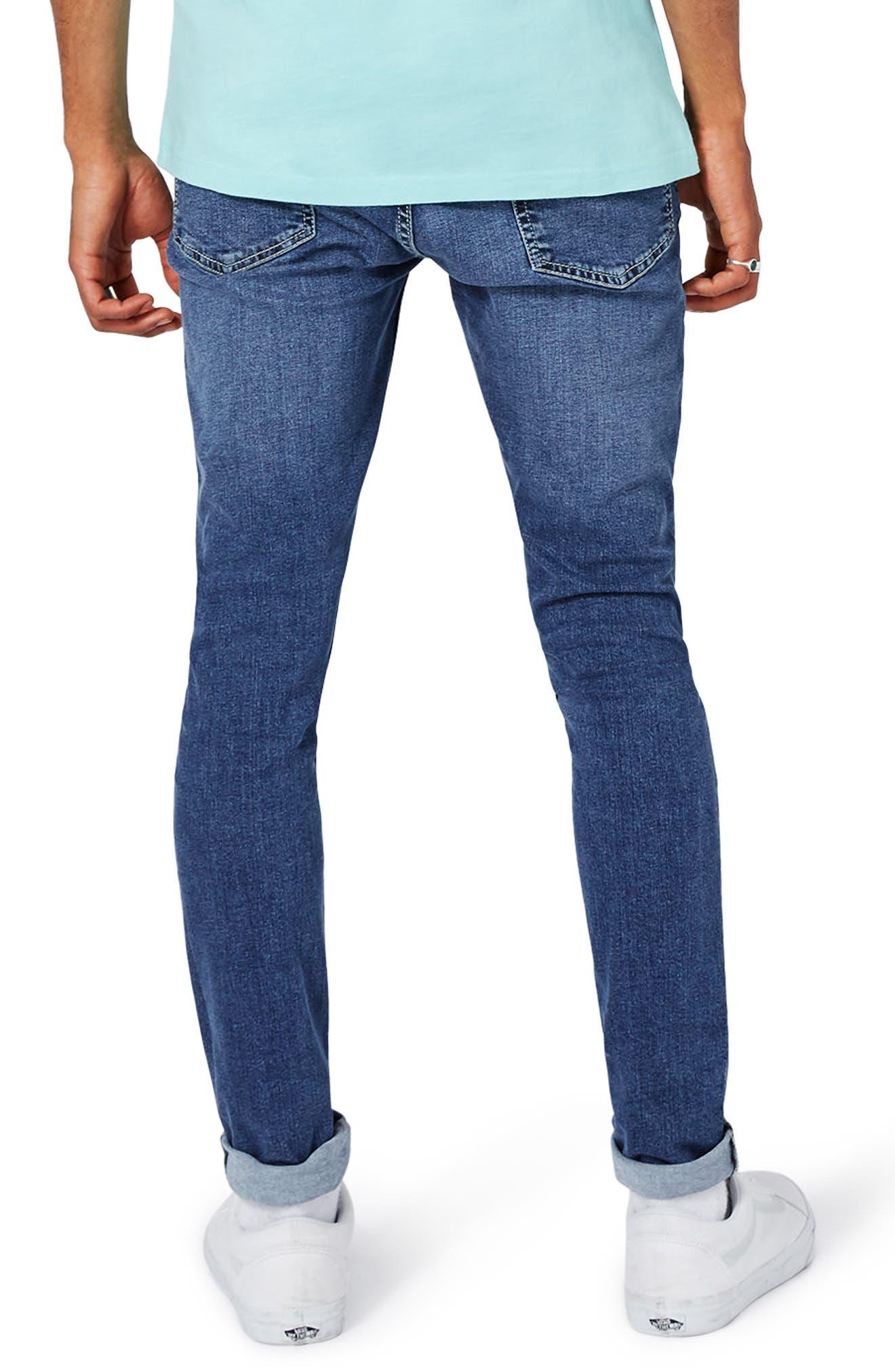Alternate Image 3  - Topman Spray-On Skinny Fit Jeans