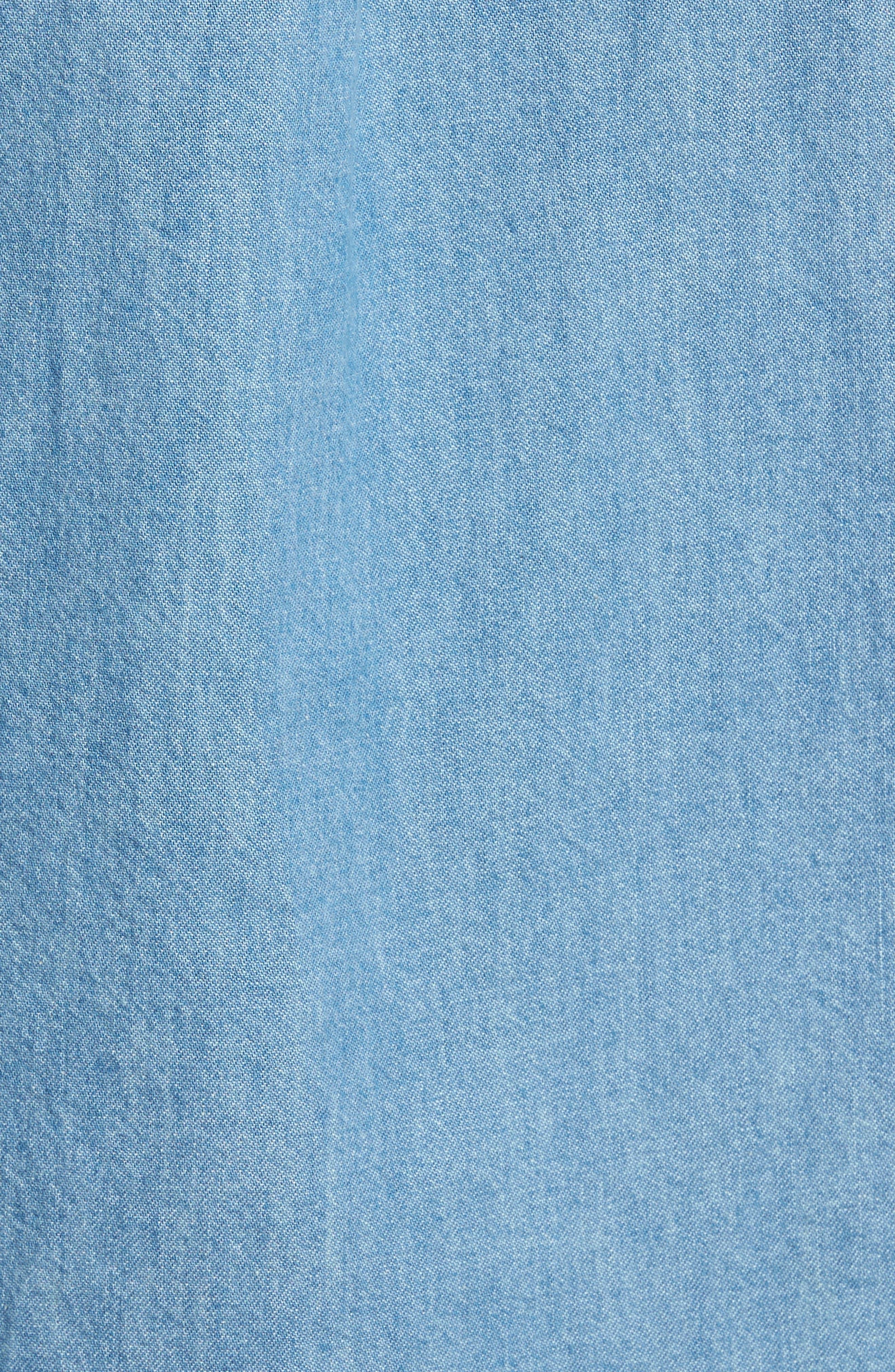 Alternate Image 5  - Topman Washed Denim Shirt